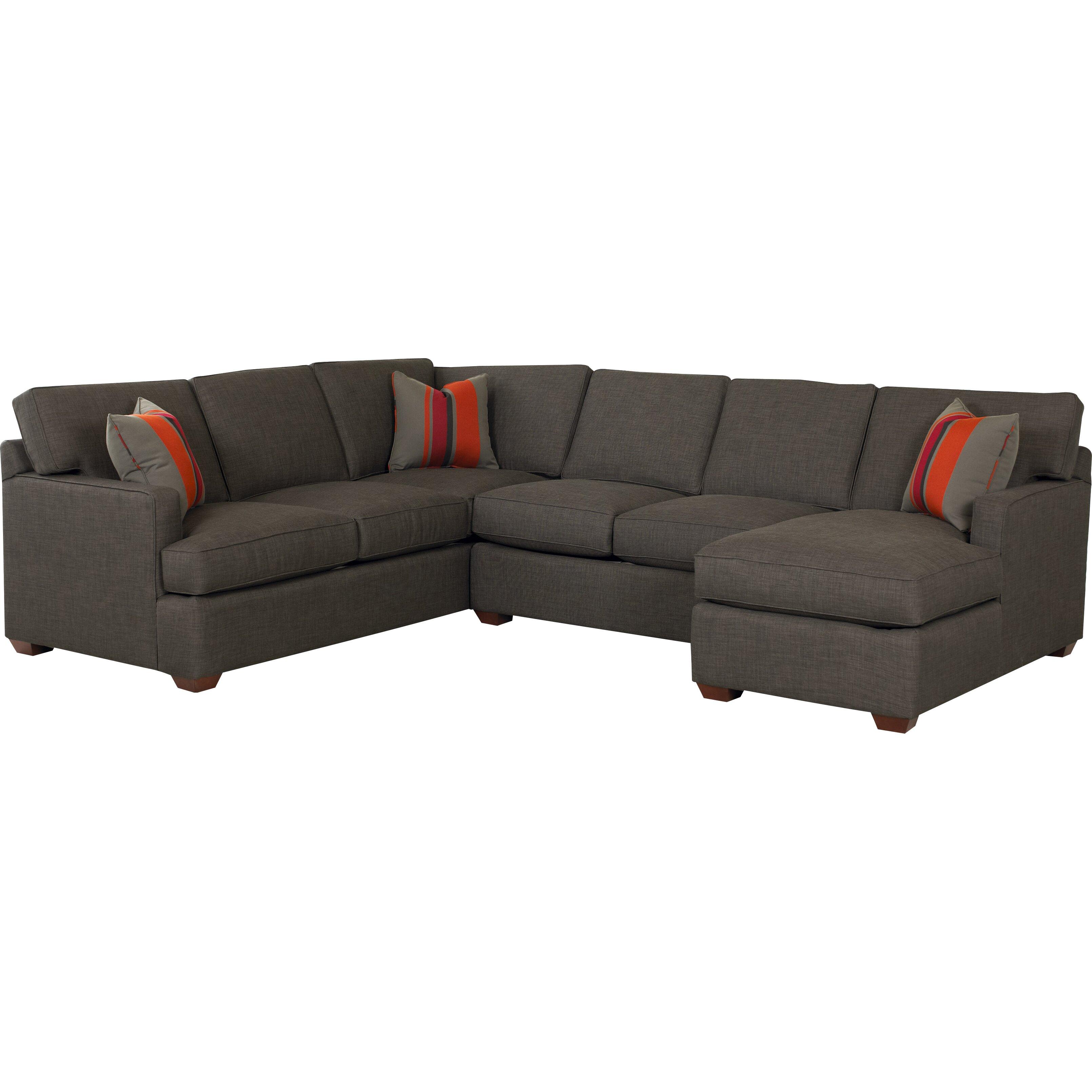 Klaussner Furniture Rory Sectional u0026 Reviews : Wayfair.ca