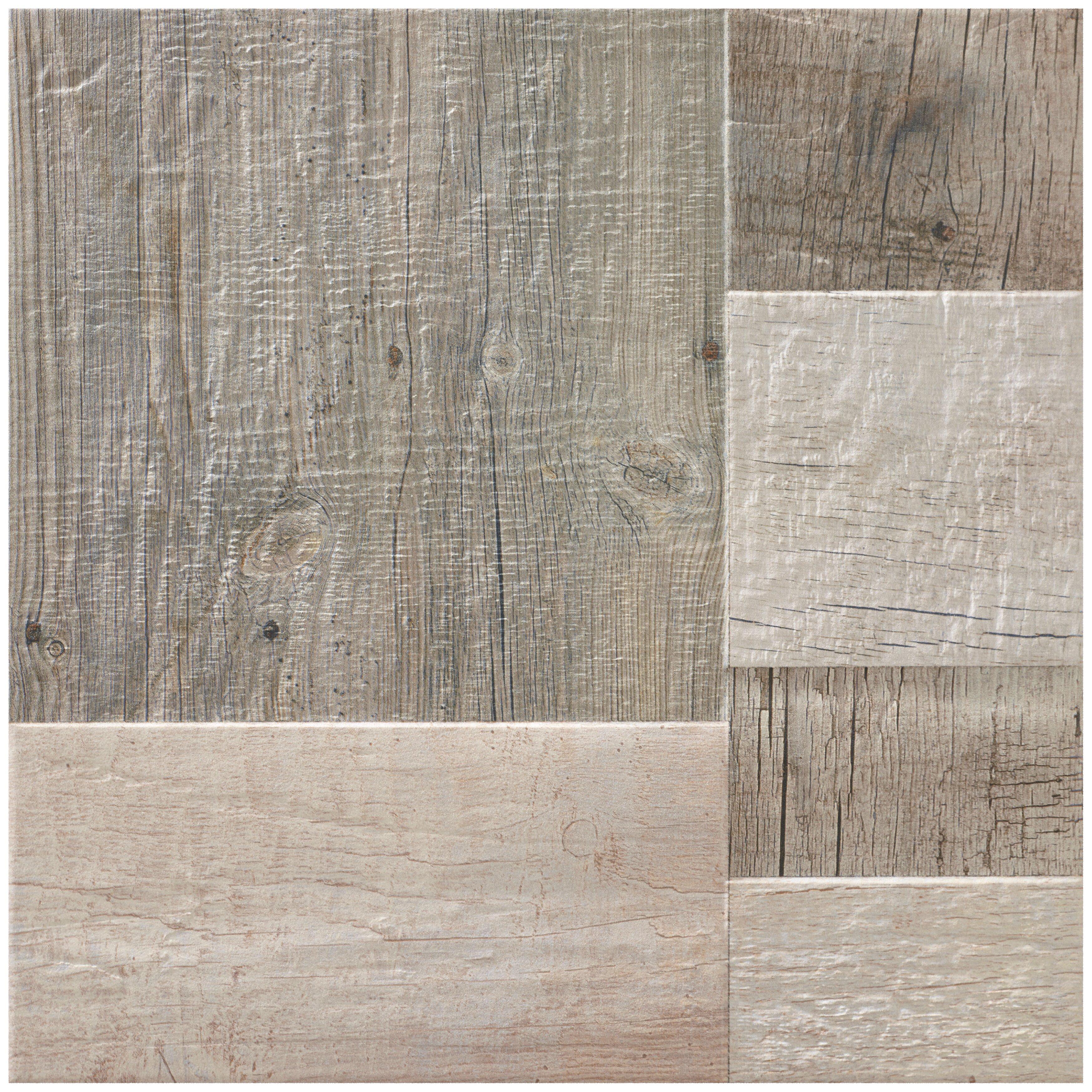 elitetile cabin x porcelain field tile in gris reviews wayfair. Black Bedroom Furniture Sets. Home Design Ideas