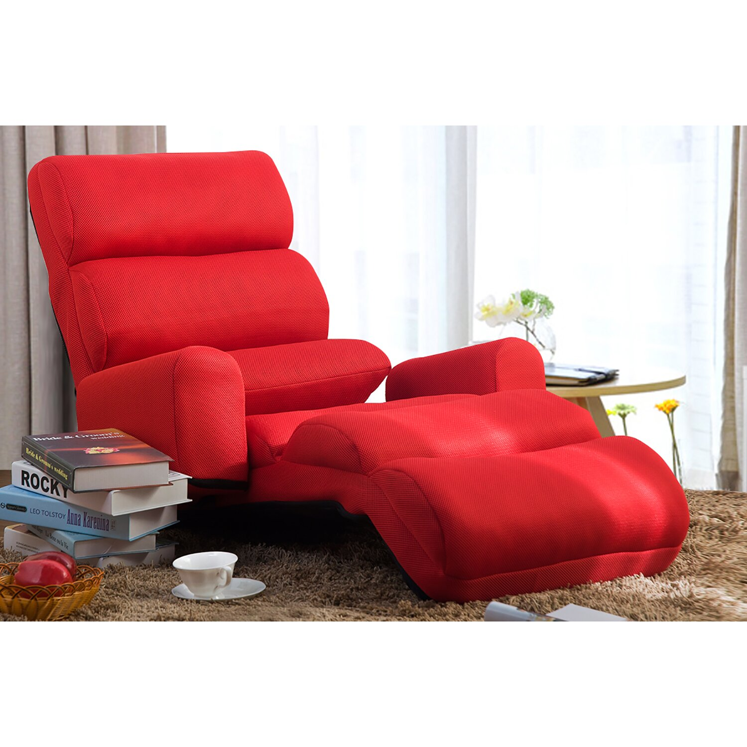 Convertible Ottoman Chair Costco: Merax Convertible Lounge Chair & Reviews