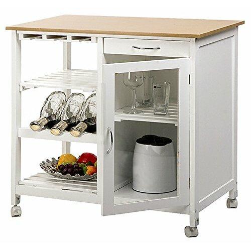 kitchen cart with butcher block top wayfair