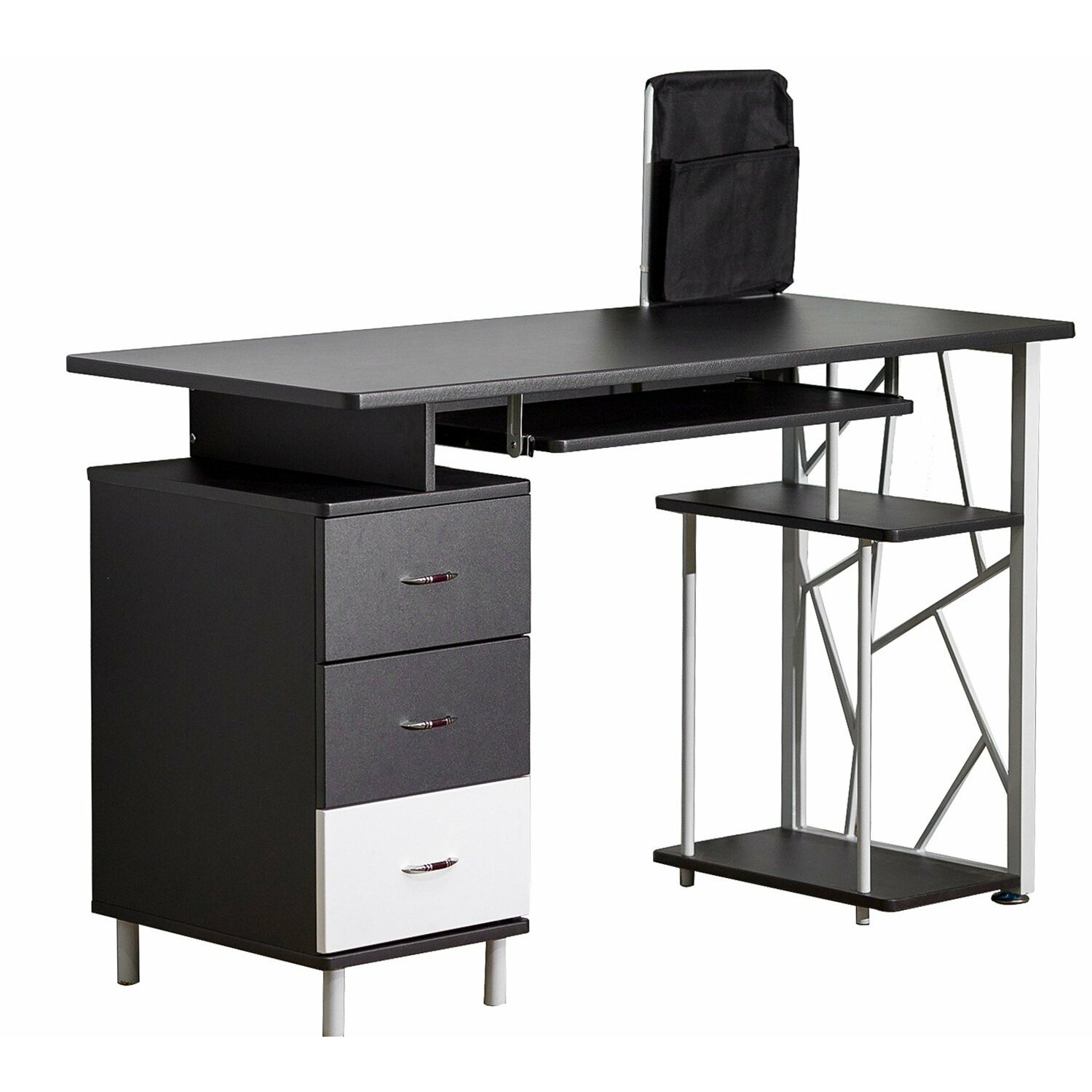 Computer Desk With Cabinet And Drawer Wayfair