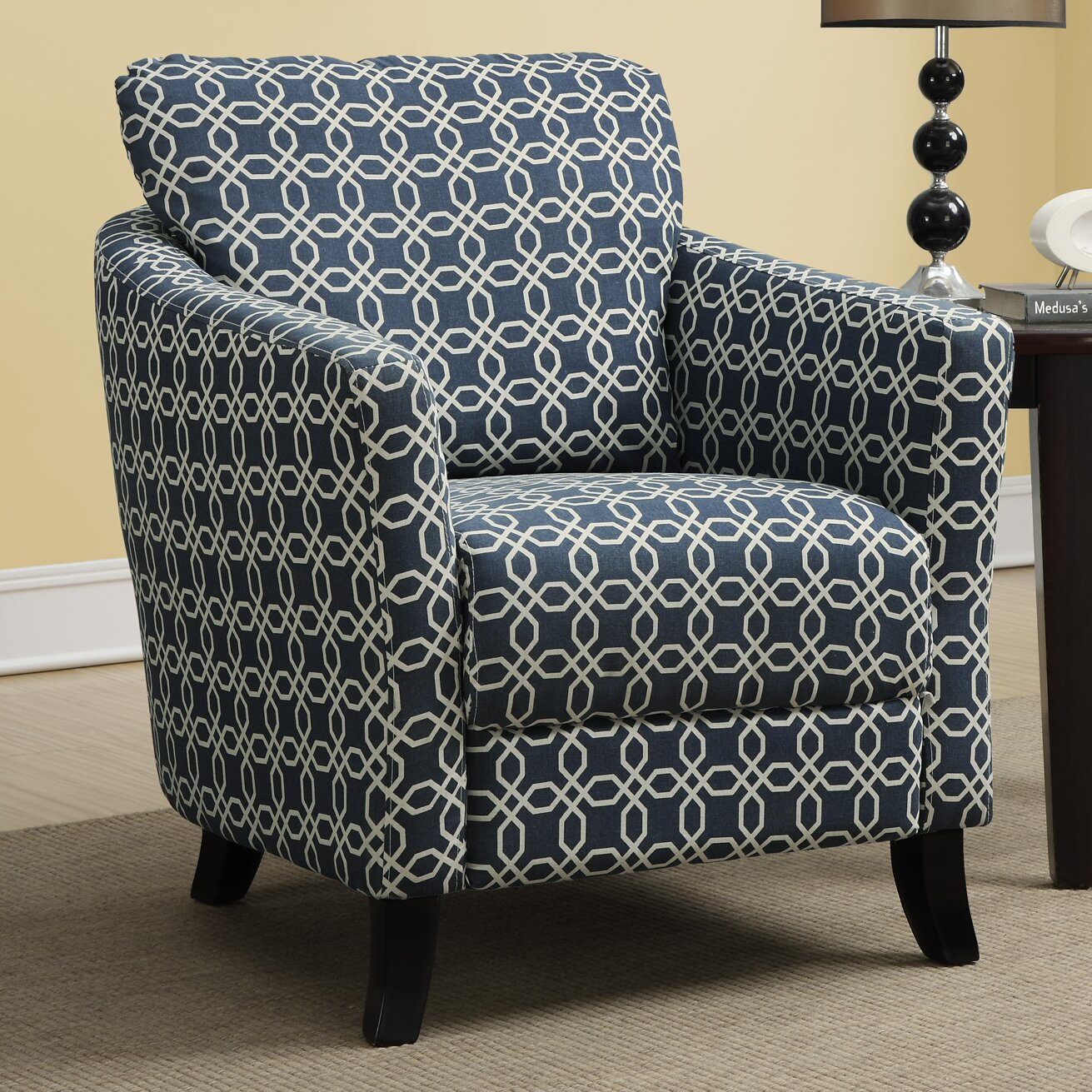 Monarch Specialties Inc I 8058 Fabric Accent Chair: Monarch Specialties Inc. Angled Kaleidoscope Arm Chair