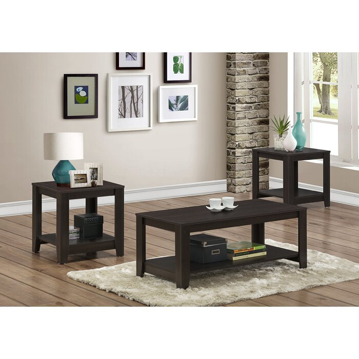 Monarch specialties inc 3 piece coffee table set - 3 piece table set for living room ...