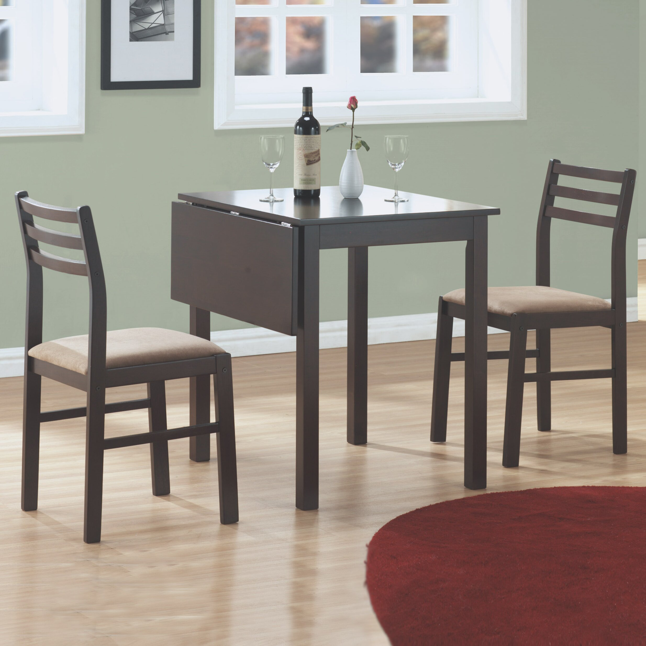 Monarch Specialties Inc 3 Piece Dining Set Amp Reviews