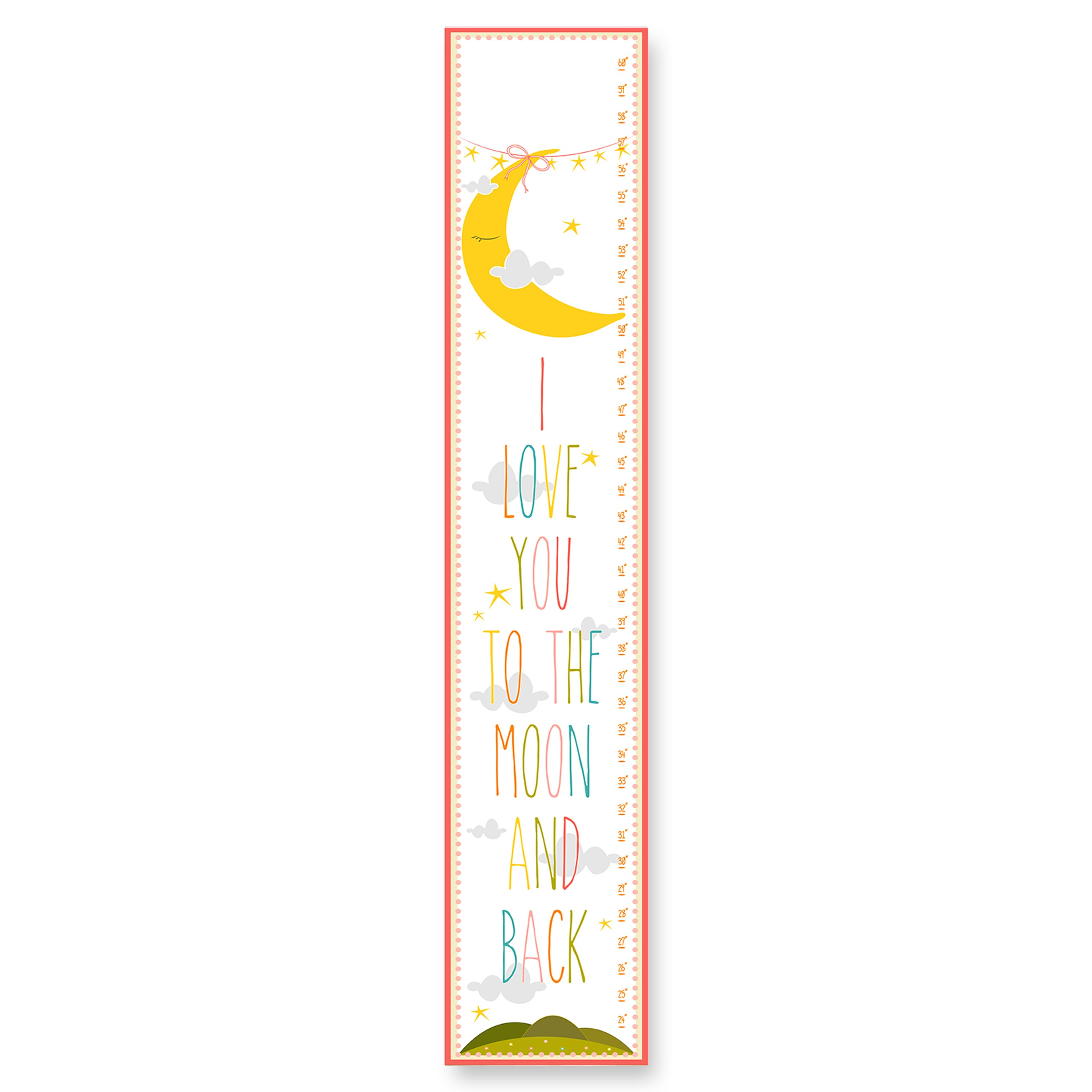 Stupell industries the kids room i love you to the moon for Growth chart for kids room
