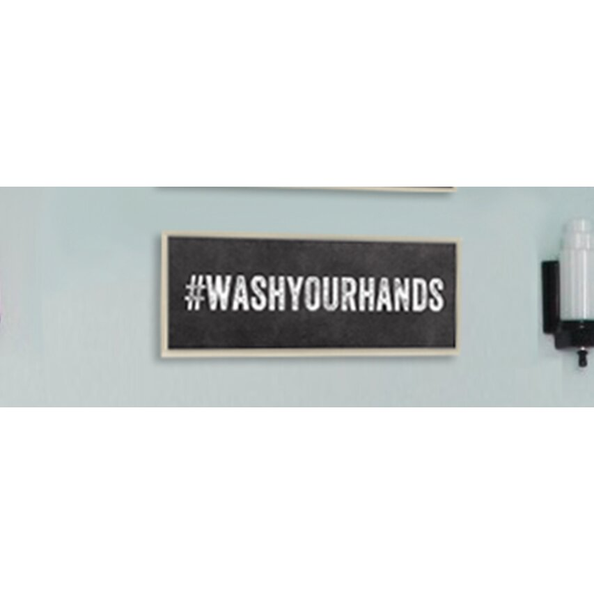 Wash your hands hashtag bathroom wall plaque wayfair for Bathroom design hashtags