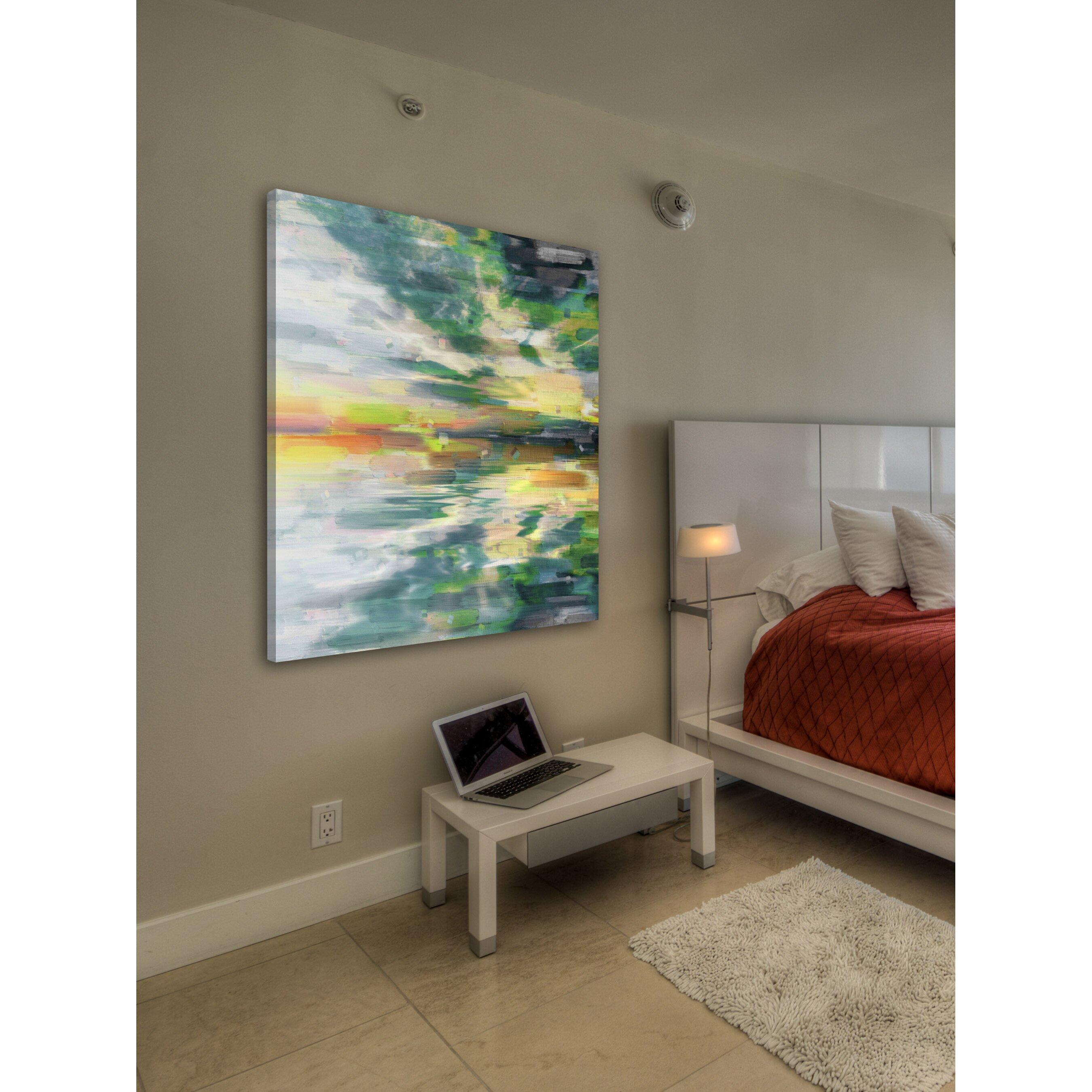 Parveztaj Color Explosion Painting Print On Wrapped Canvas