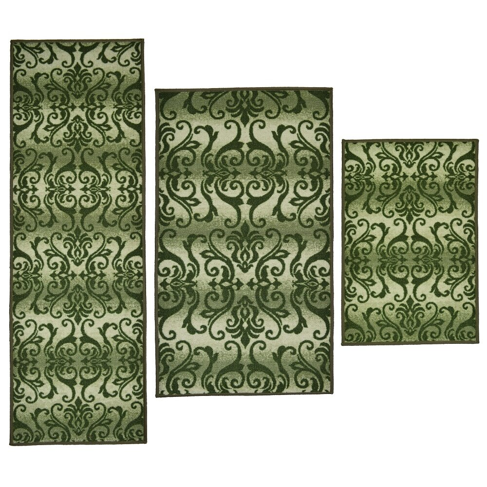 Madison Home 3 Piece Madrid Green Area Rug Set Reviews Wayfair