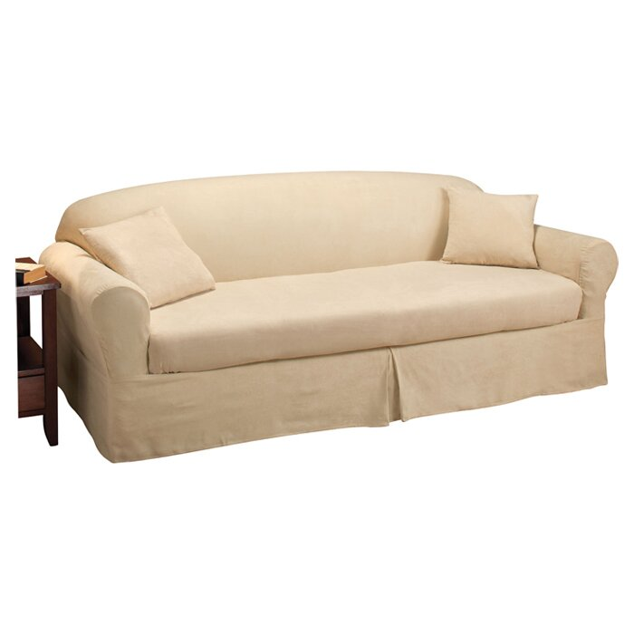 Madison Home Microsuede 2 Piece Sofa Slipcover Reviews Wayfair