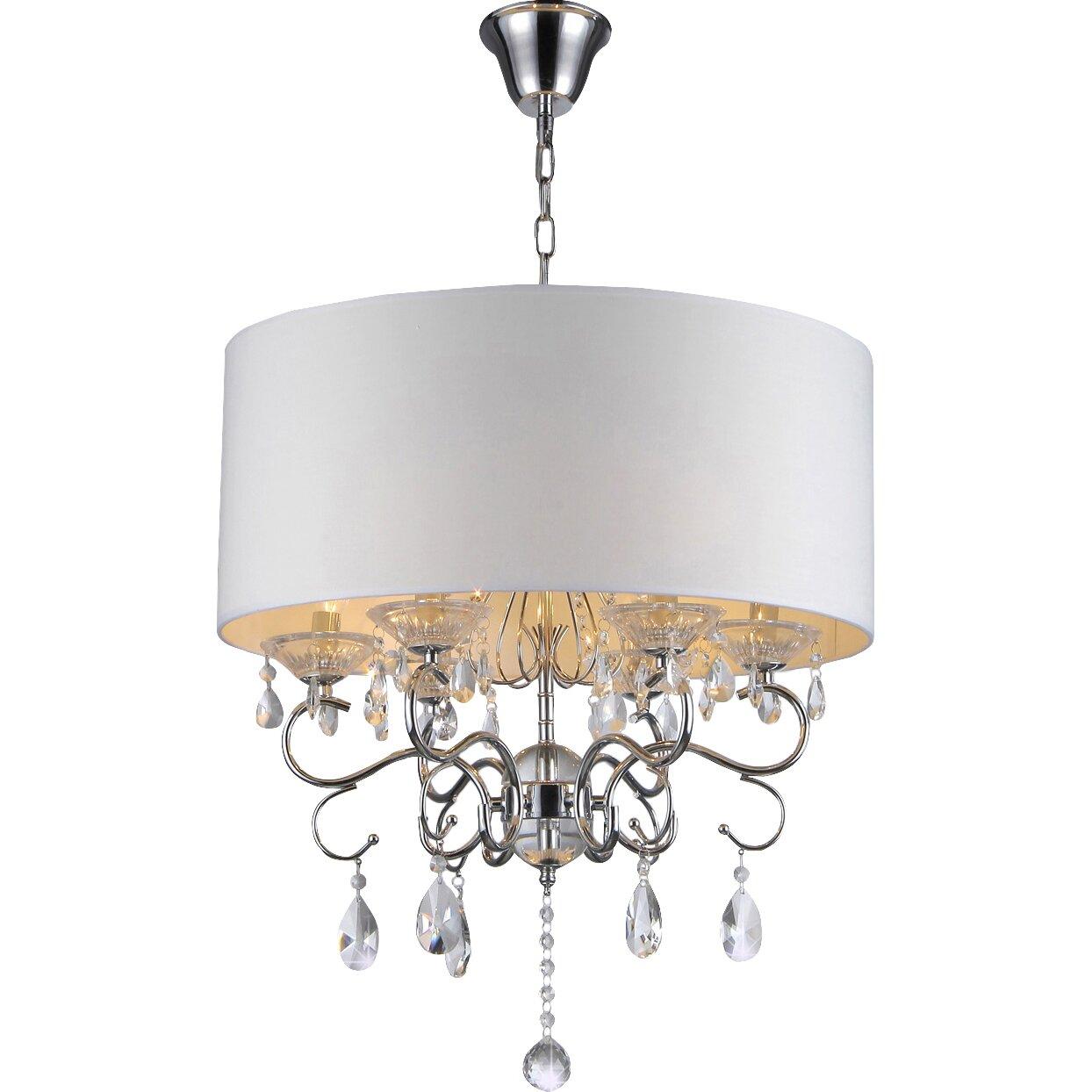 6 Light Crystal Chandelier