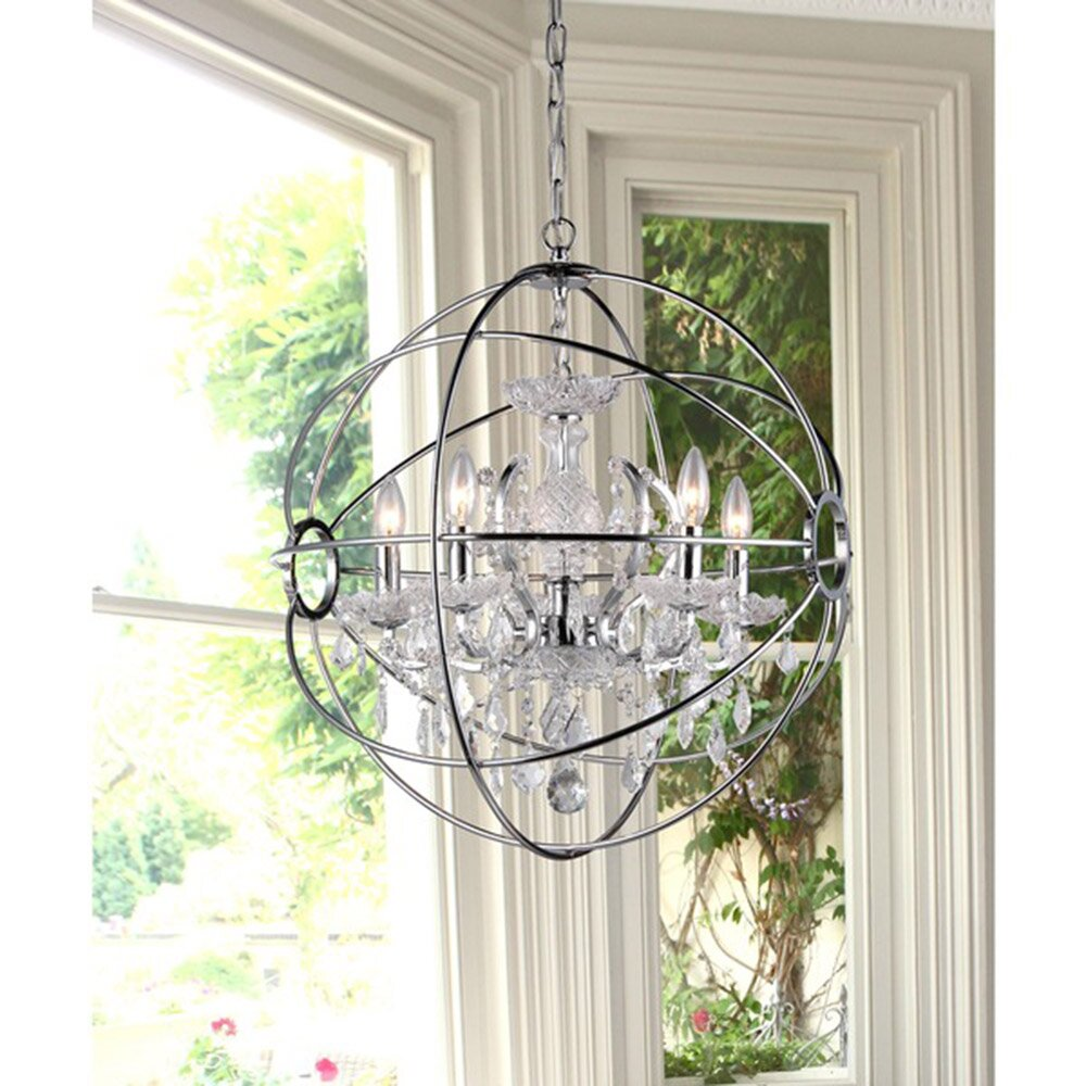 Warehouse Of Tiffany Saturn's 6 Light Ring Chandelier