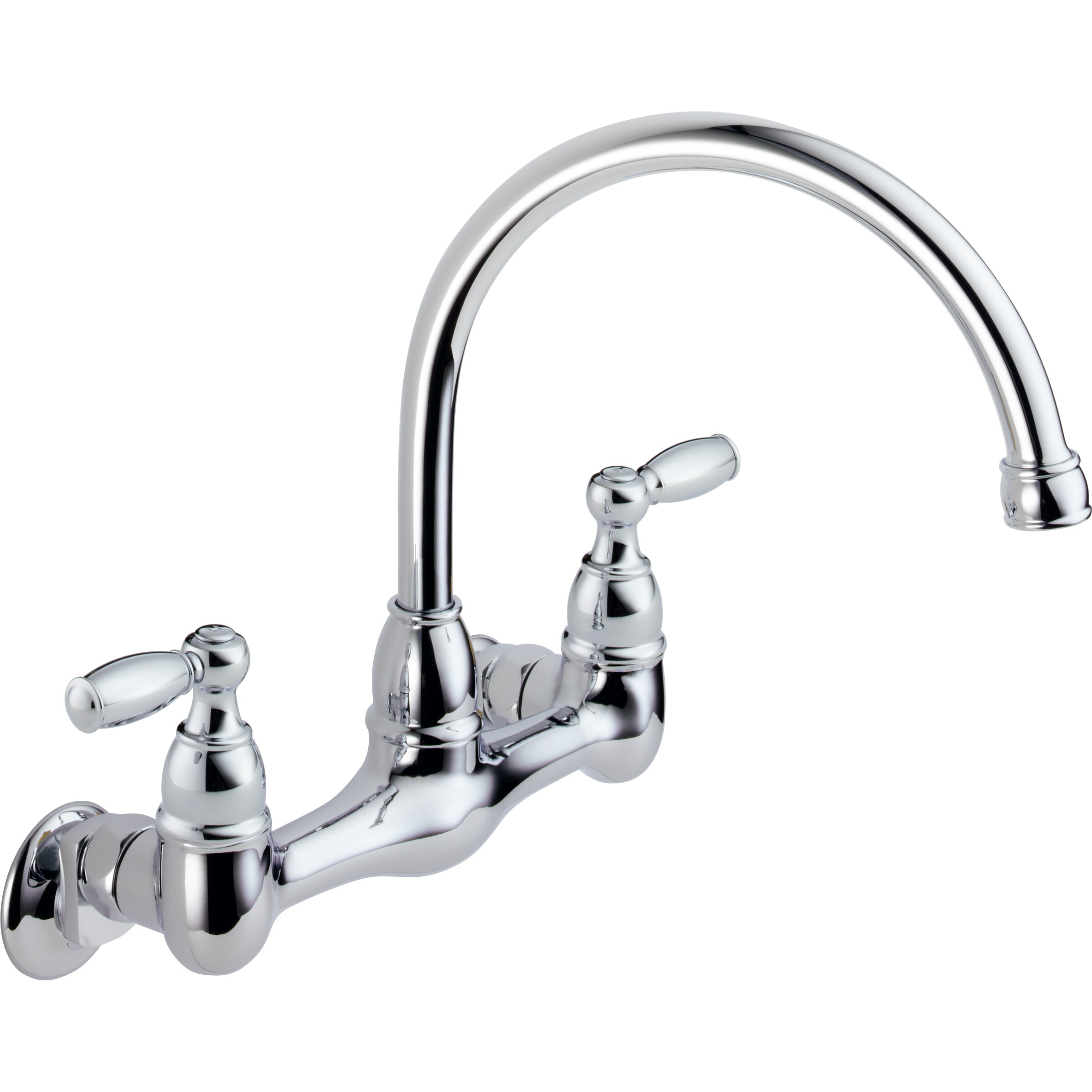 Peerless Kitchen Faucets: Peerless Faucets Two Handle Wall Mounted Kitchen Faucet