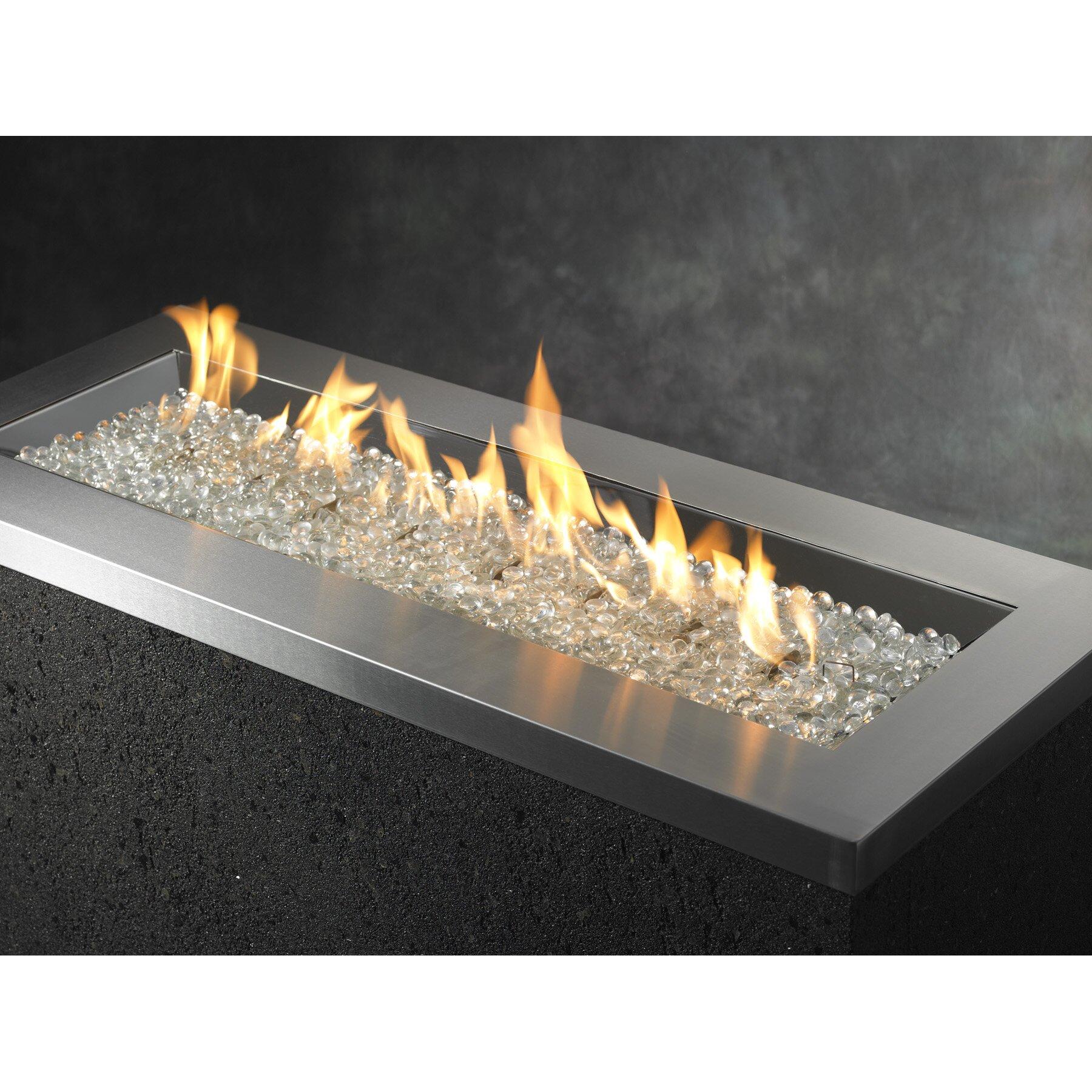 Crystal Fiberglass Propane And Natural Gas Fire Pit Wayfair