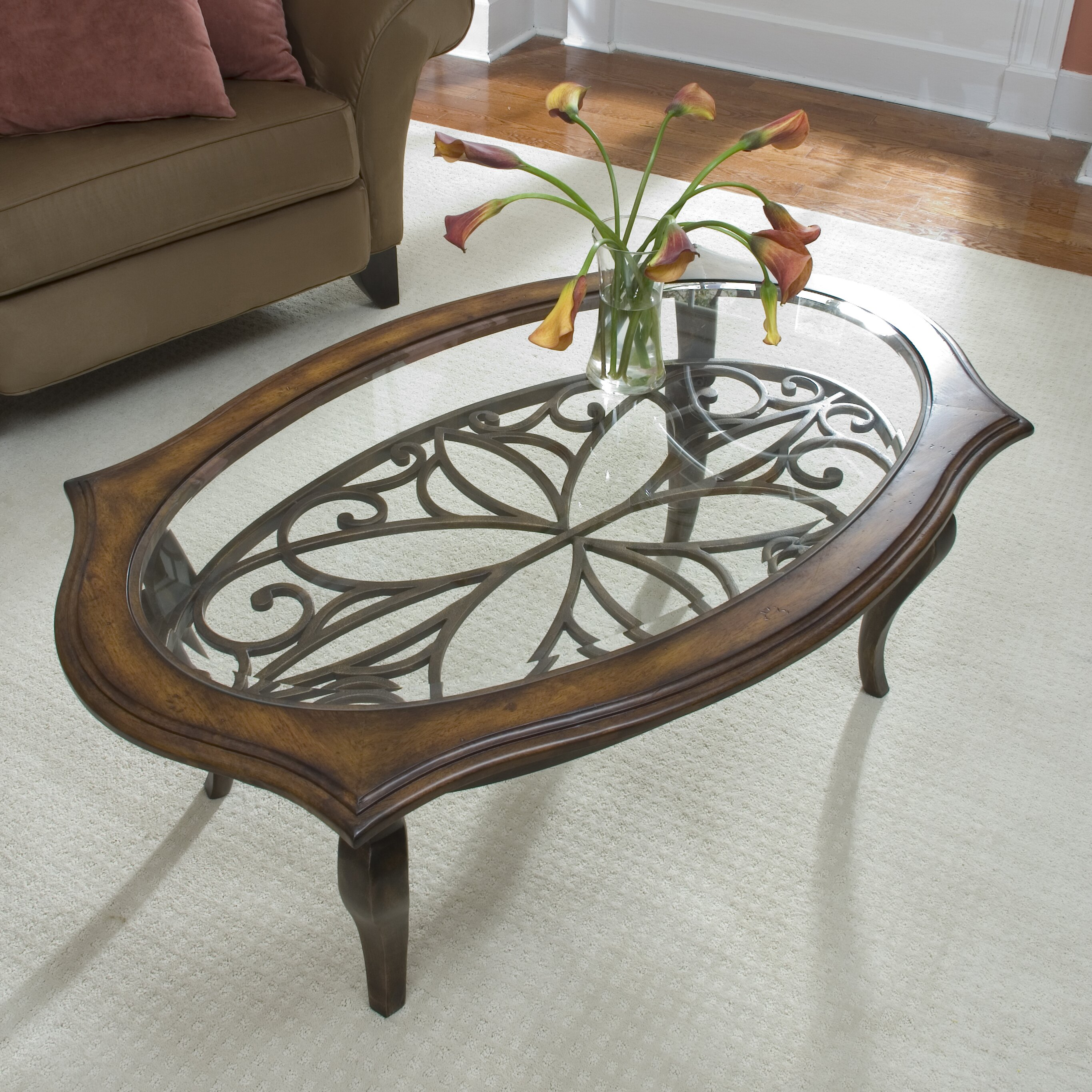 Jordan S Furniture Coffee Table Sets: Riverside Furniture Serena Coffee Table Set & Reviews