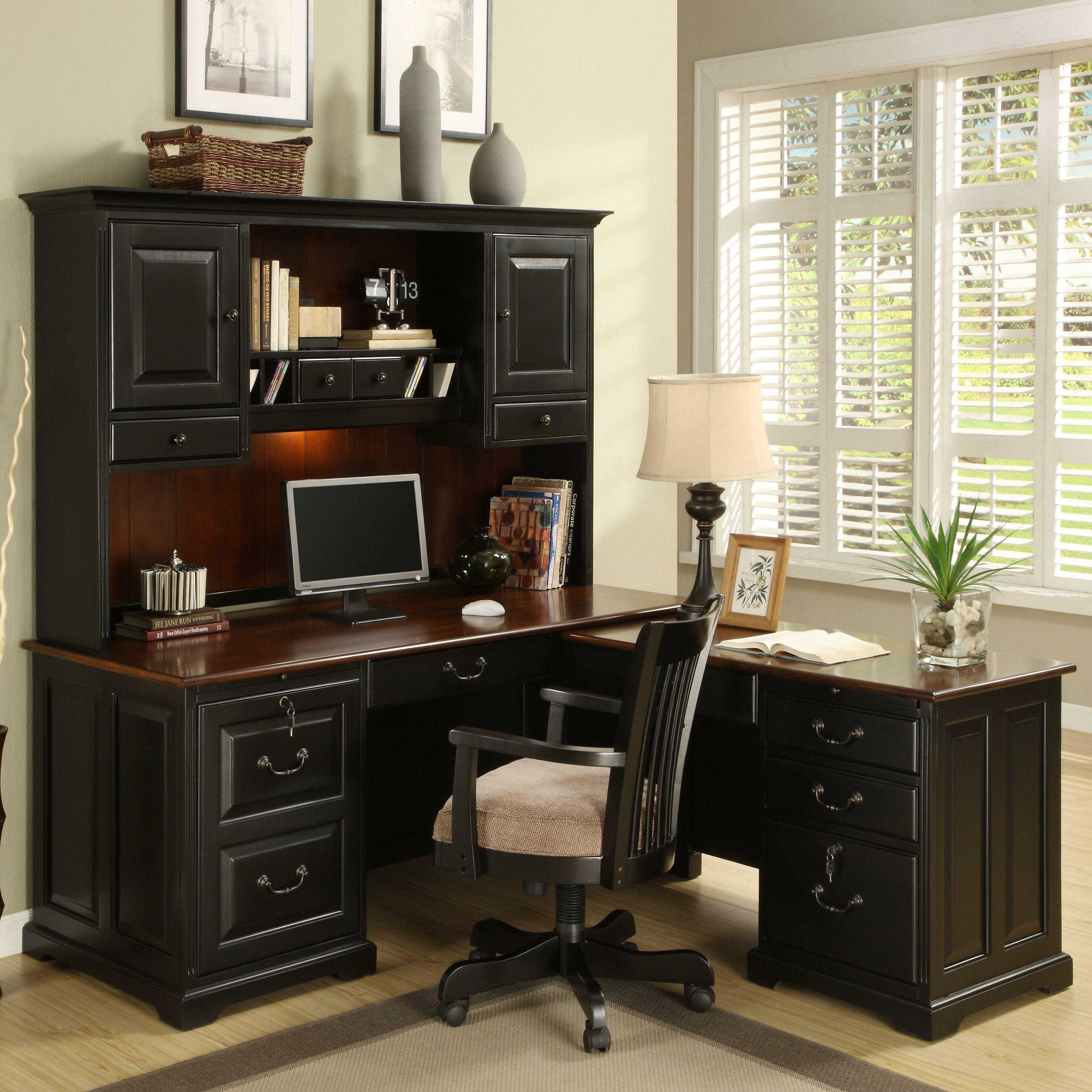 Riverside Furniture Bridgeport 2 Piece L Shape Desk Office