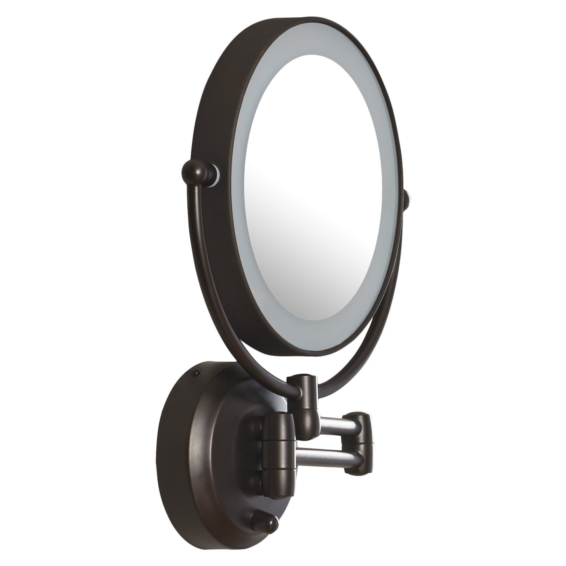 Zadro LED Lighted 1X/10X Magnification Wall Mount Mirror
