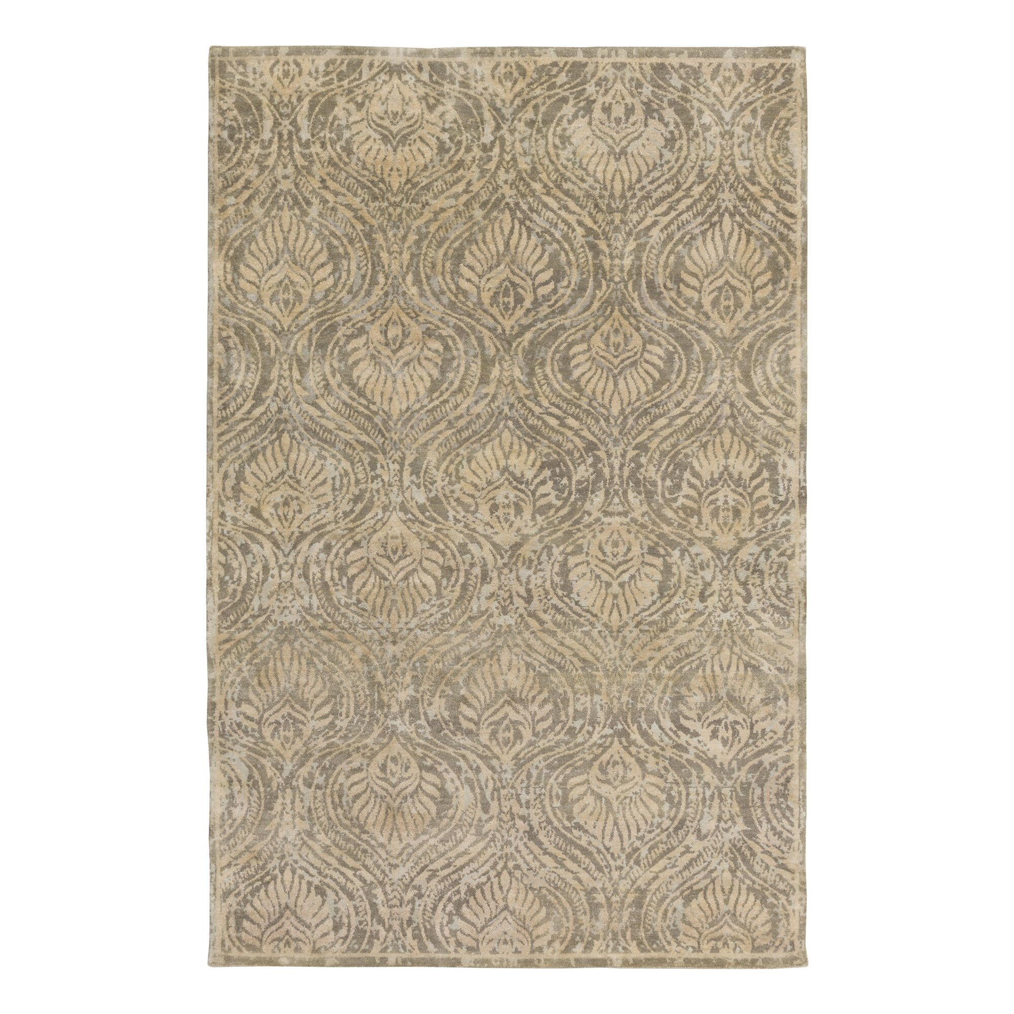 dwellstudio plume hand knotted flint area rug dwellstudio