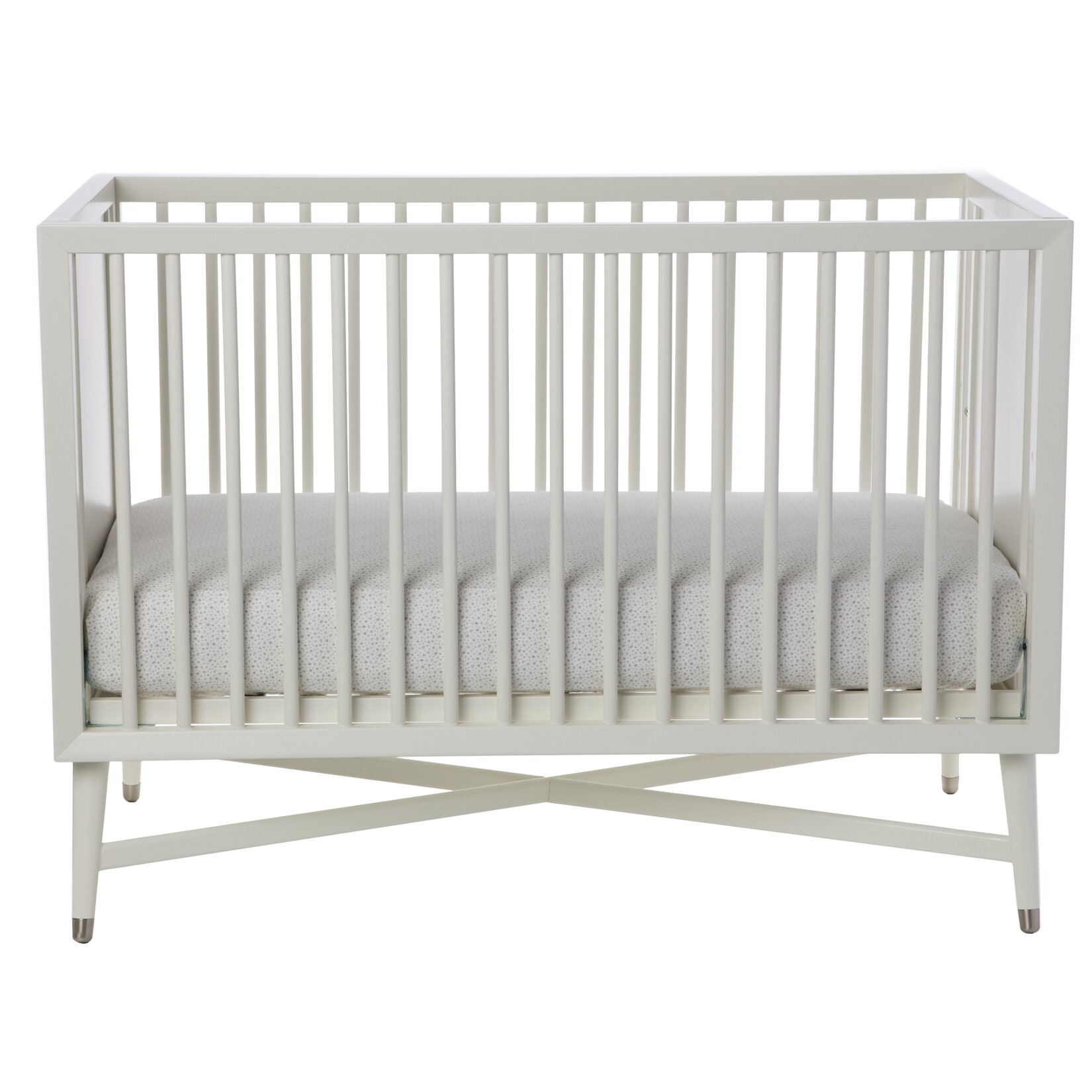 dwellstudio mid century 3 in 1 convertible crib in white