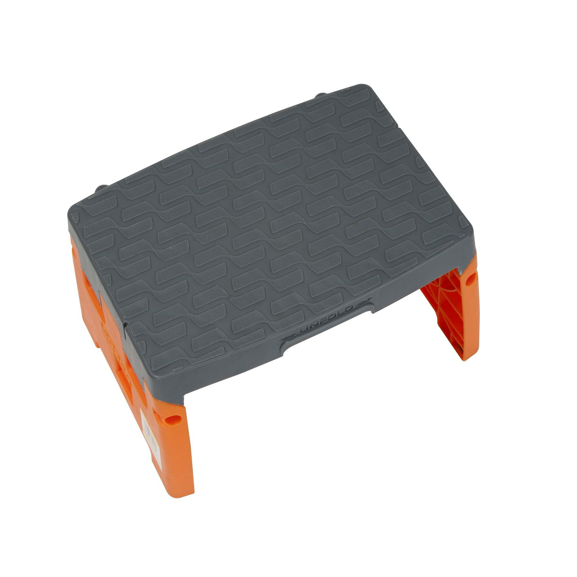 1 Step Plastic Molded Folding Step Stool With 300 Lb Load