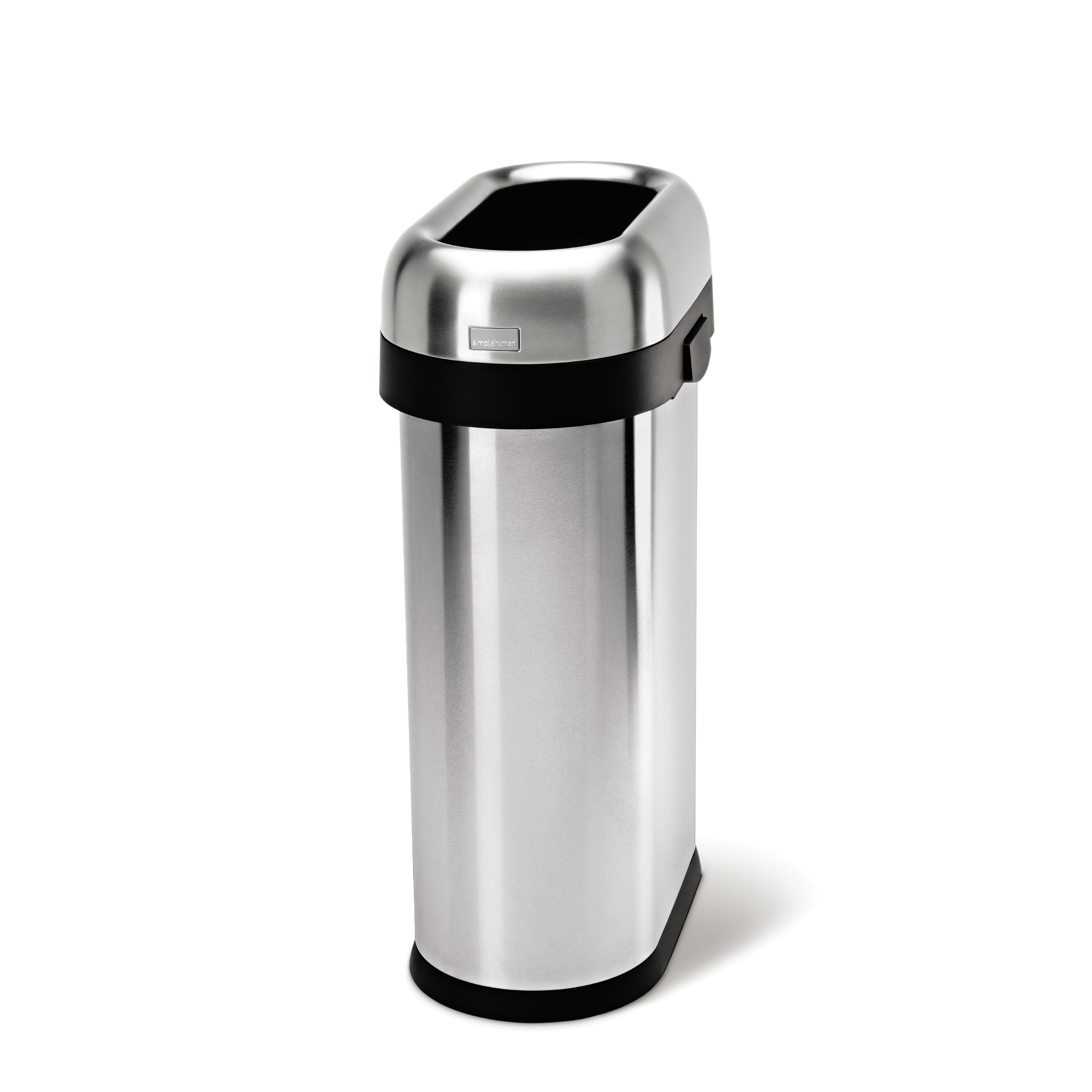 50 L 13 Gal Slim Open Trash Can Commercial Grade