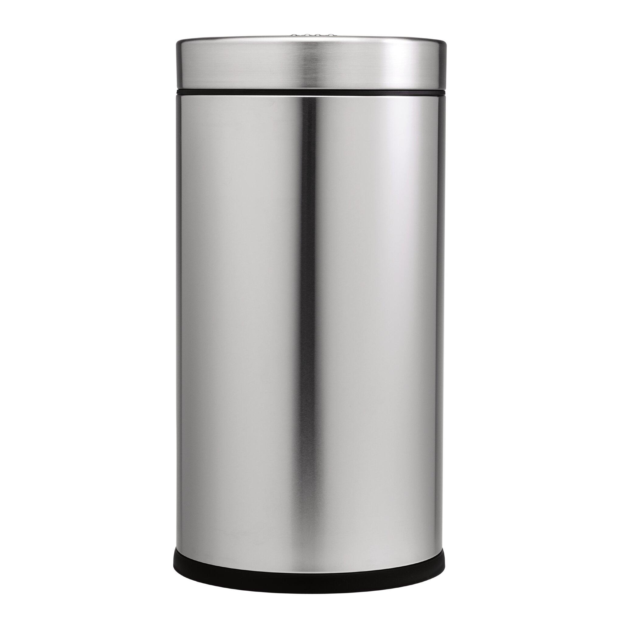 55 l 14 5 gal swing top trash can commercial grade stainless steel wayfair. Black Bedroom Furniture Sets. Home Design Ideas