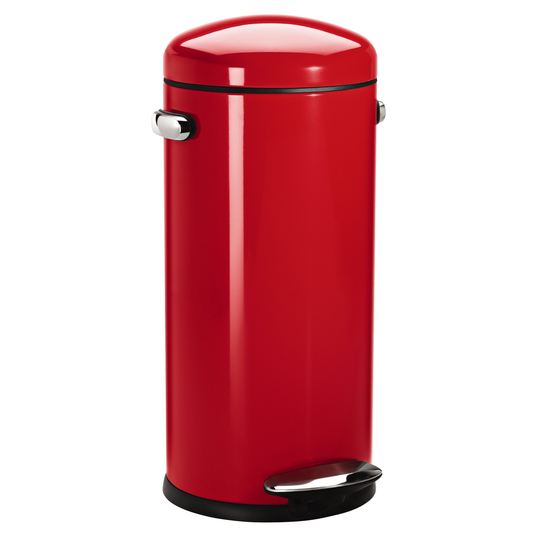 8 gallon round retro step trash can wayfair - Rd trash can for sale ...