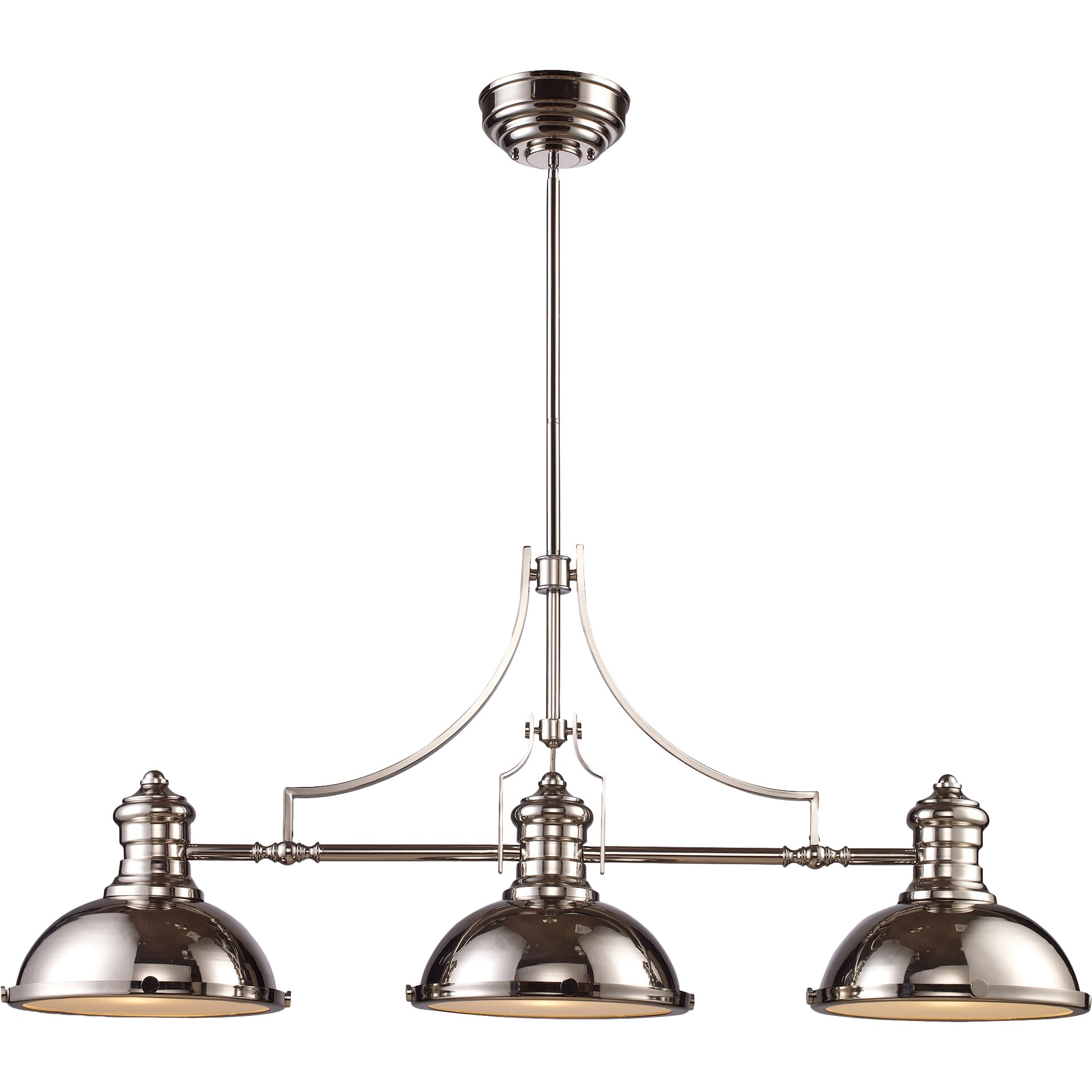 Elk Lighting Chadwick 3 Light Pool Table Light & Reviews