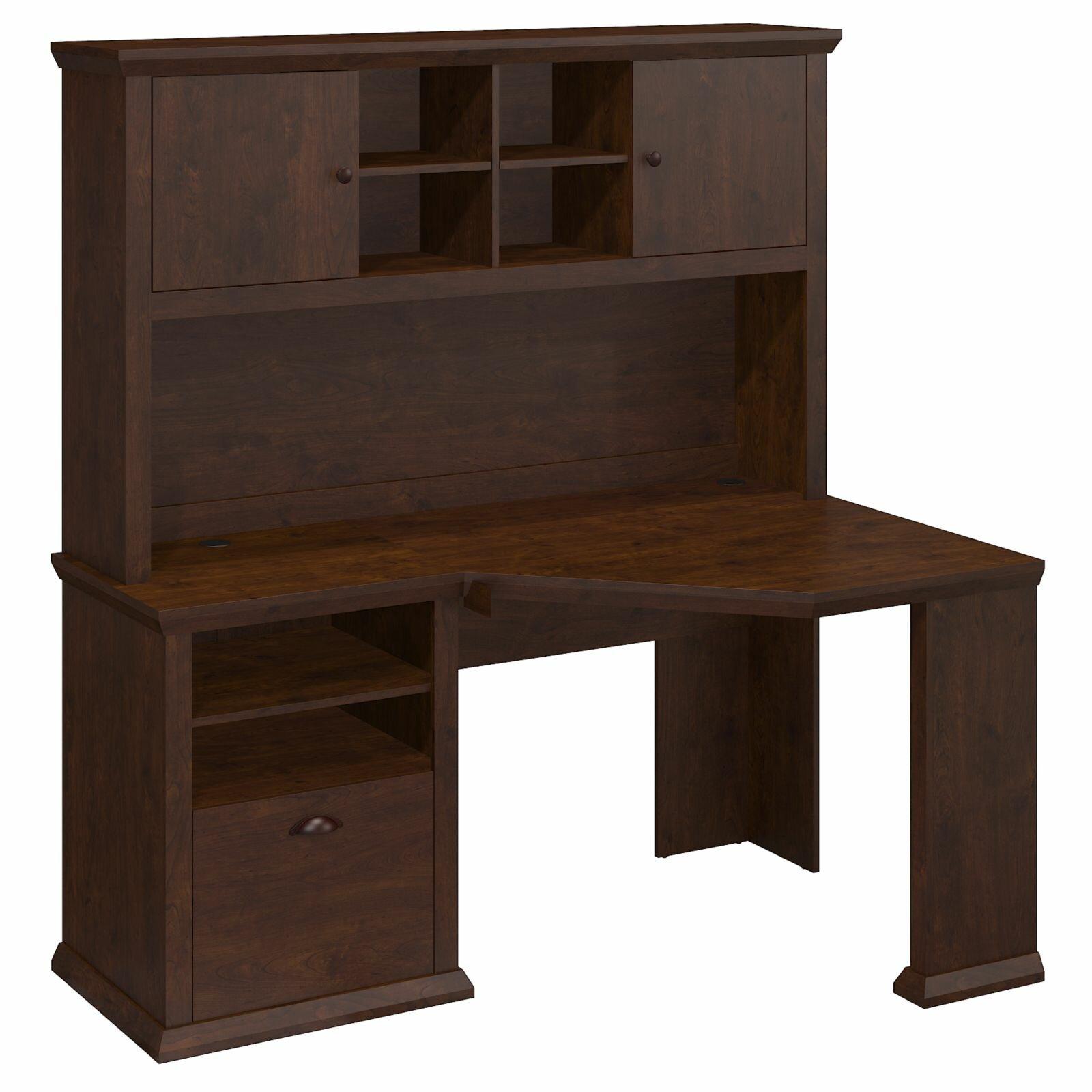 bush industries yorktown corner desk and hutch reviews wayfair. Black Bedroom Furniture Sets. Home Design Ideas