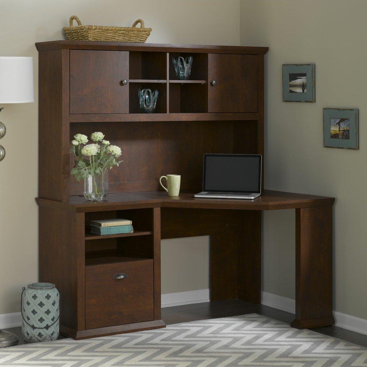yorktown corner desk and hutch wayfair. Black Bedroom Furniture Sets. Home Design Ideas