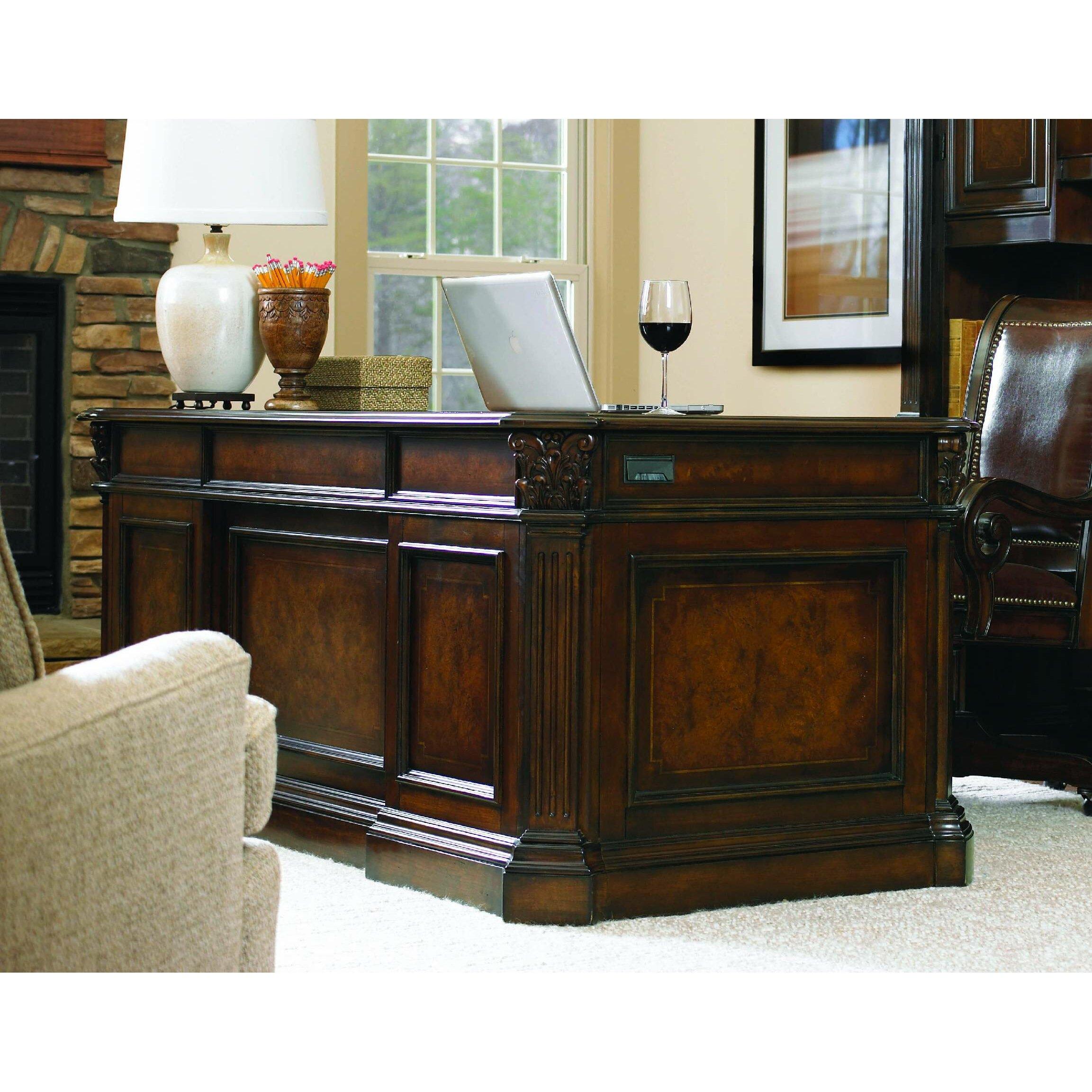 European Renaissance Ii Executive Desk With Kneehole Wayfair