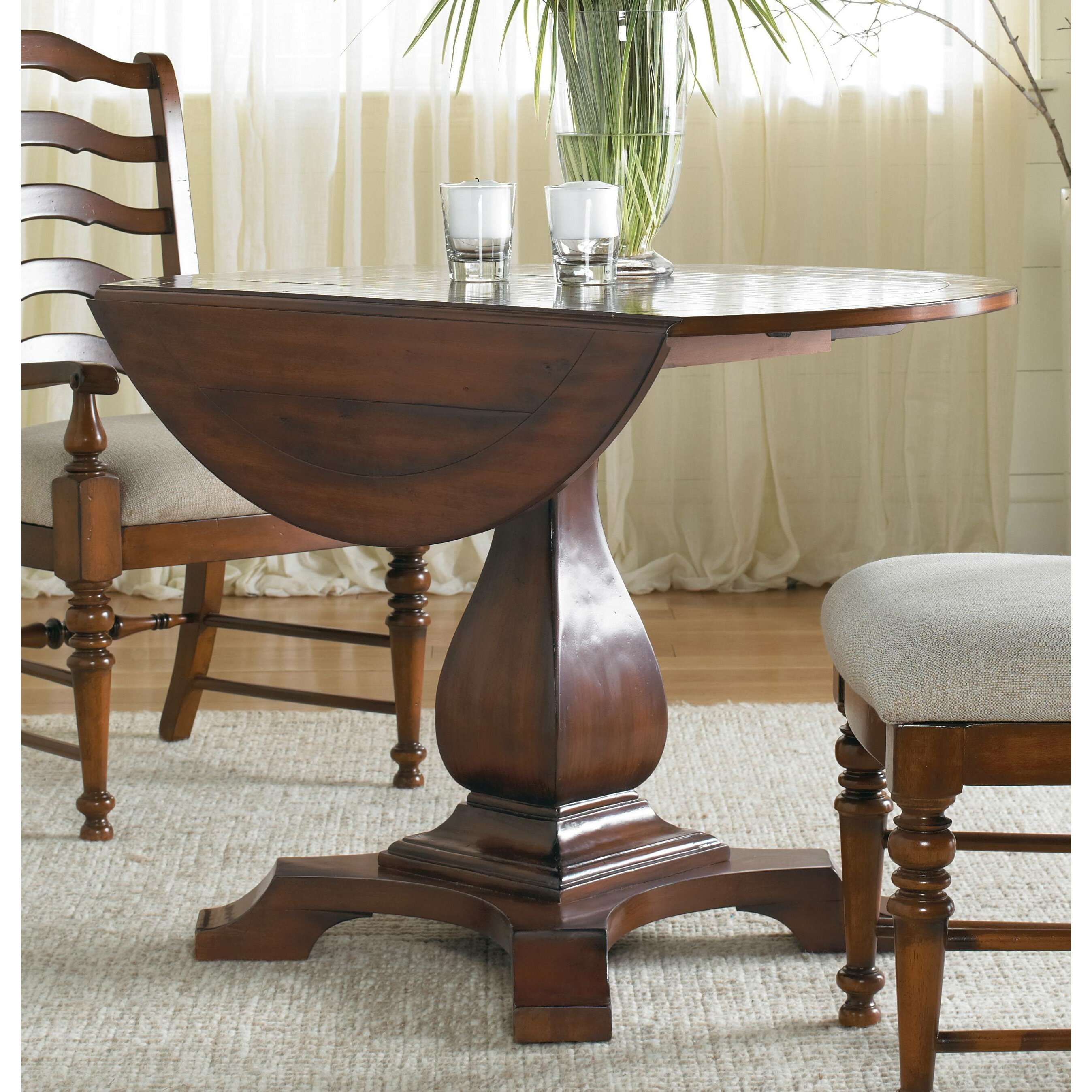 5pc Round Pedestal Drop Leaf Kitchen Table 4 Chairs: Round Drop Leaf Table