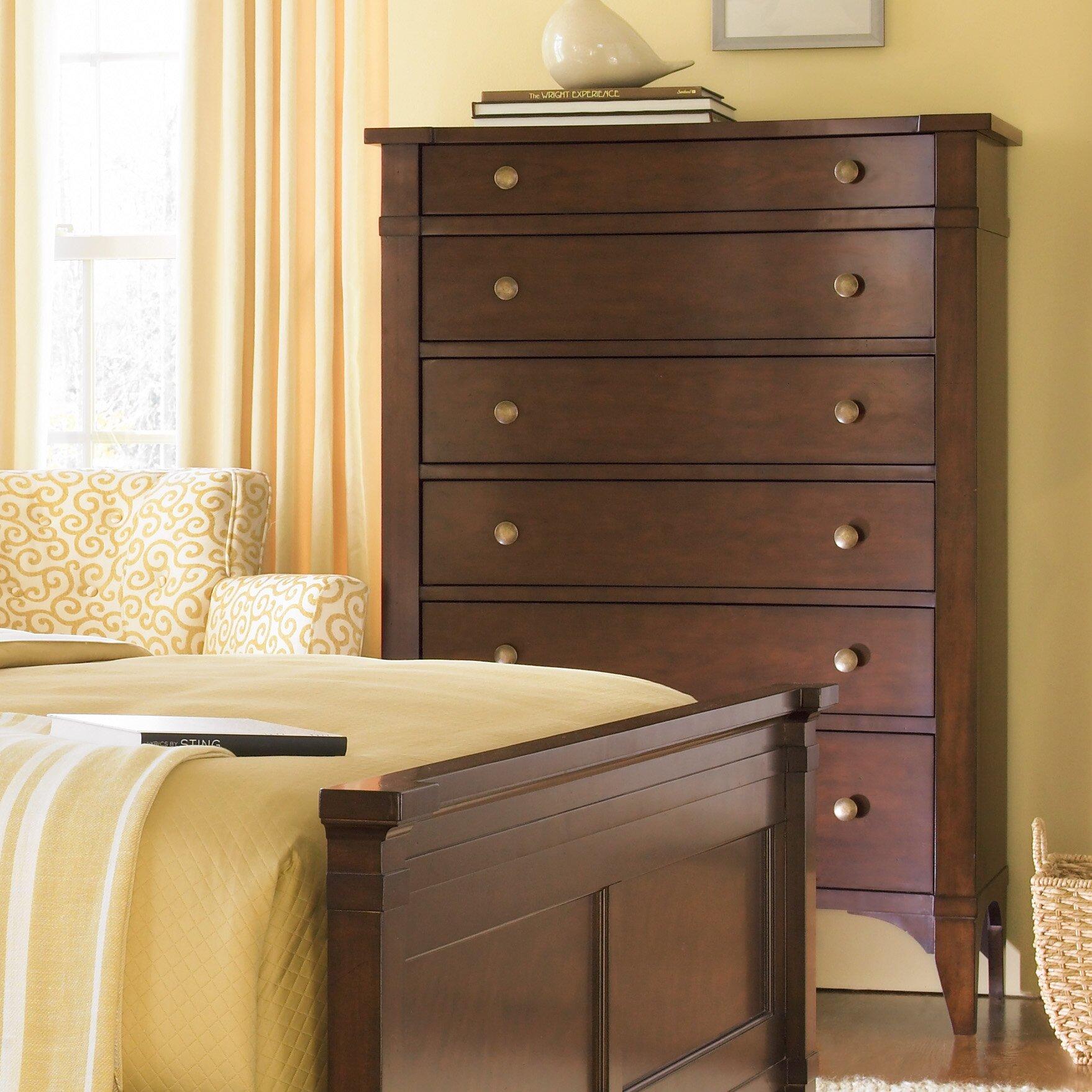 Hooker Furniture Abbott Place 6 Drawer Chest Reviews Wayfair