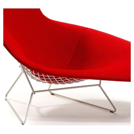 Knoll bertoia asymmetric chaise with full cover allmodern for Bertoia asymmetric chaise