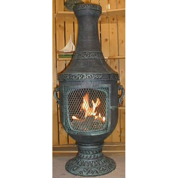 The blue rooster venetian style chiminea reviews wayfair for Outdoor fireplace spark arrestor