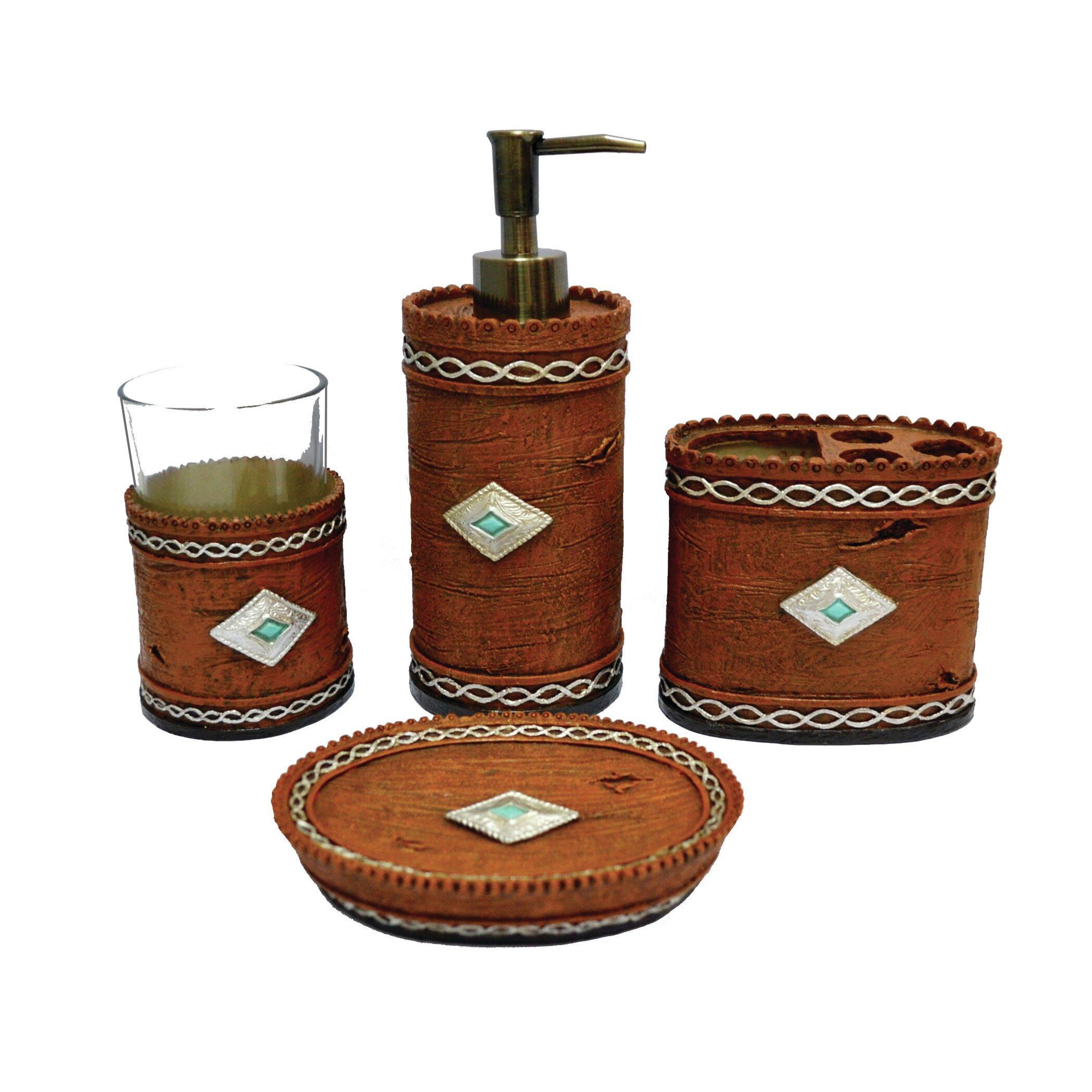 Navajo 4 piece bathroom set wayfair for Bathroom 4 piece set