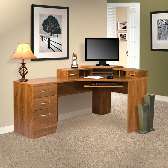 OS Home Office Furniture Office Adaptations Reversible Corner Computer