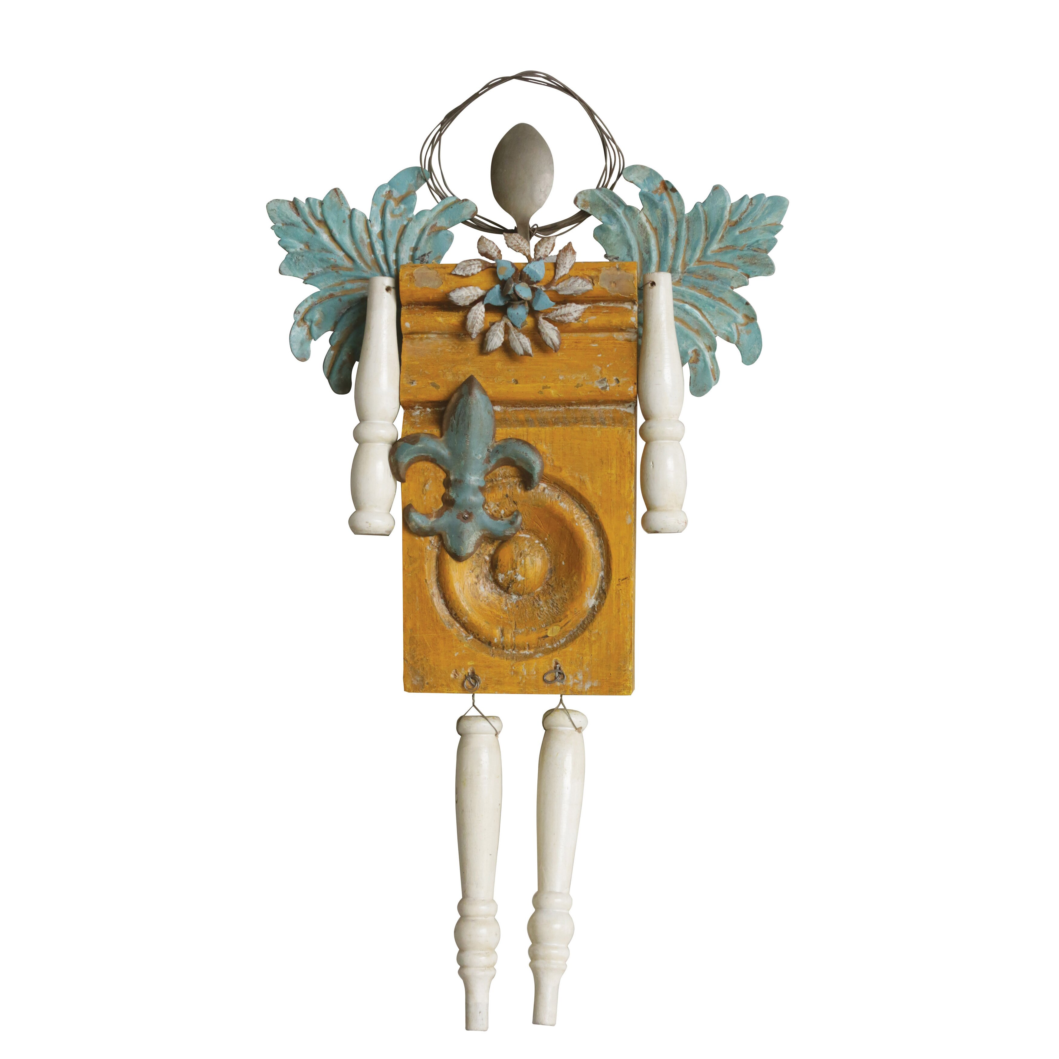 Creative co op cottage angel wall d cor reviews for Angel wall decoration