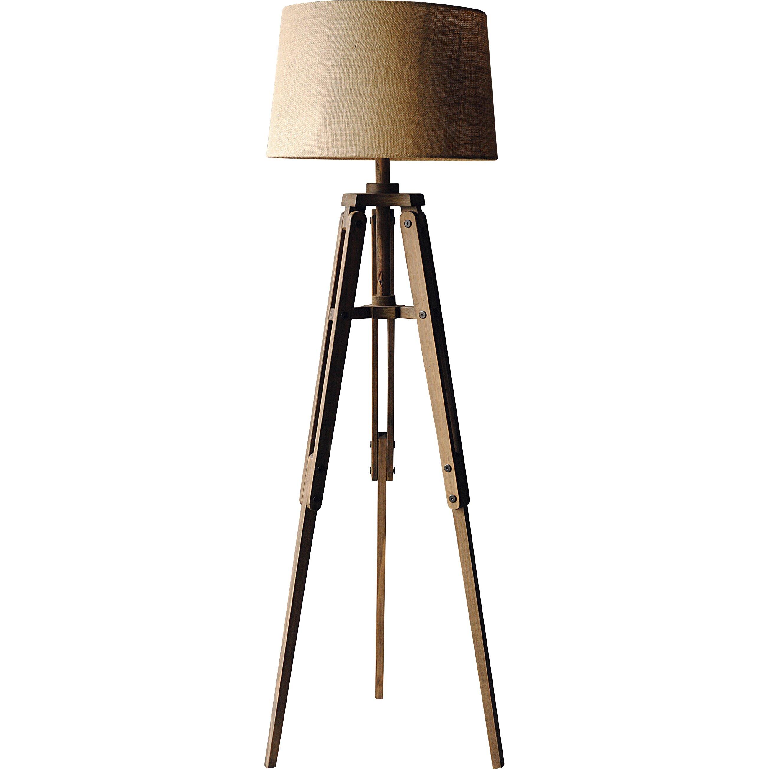 Turn of the century 6225quot tripod floor lamp wayfair for Wayfair wood floor lamp