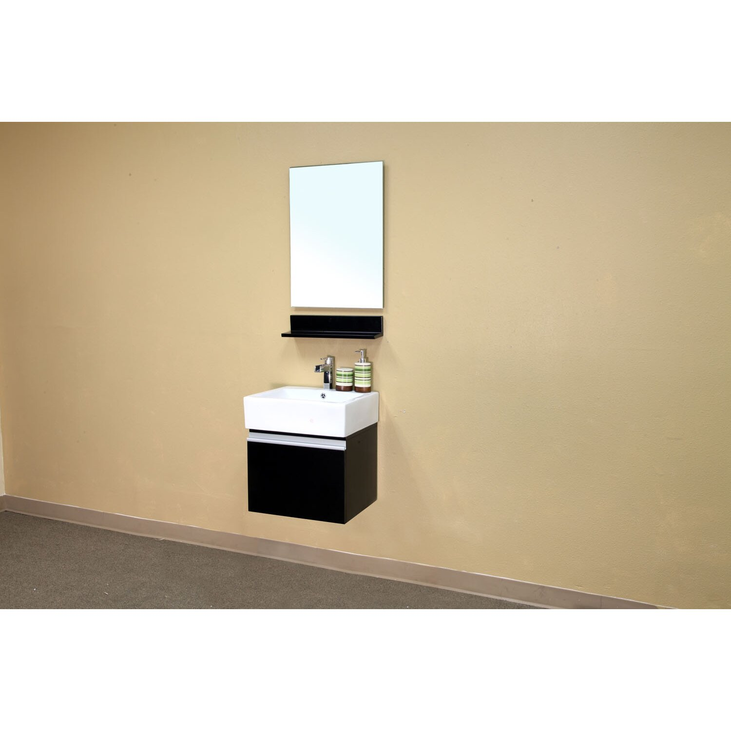 mason 21 single wall mounted bathroom vanity set by bellaterra home