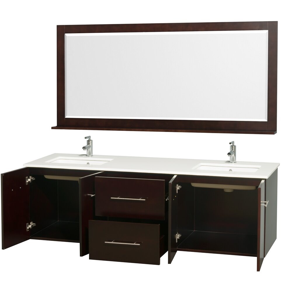 Centra 72 Double Bathroom Vanity Set With Mirror Wayfair