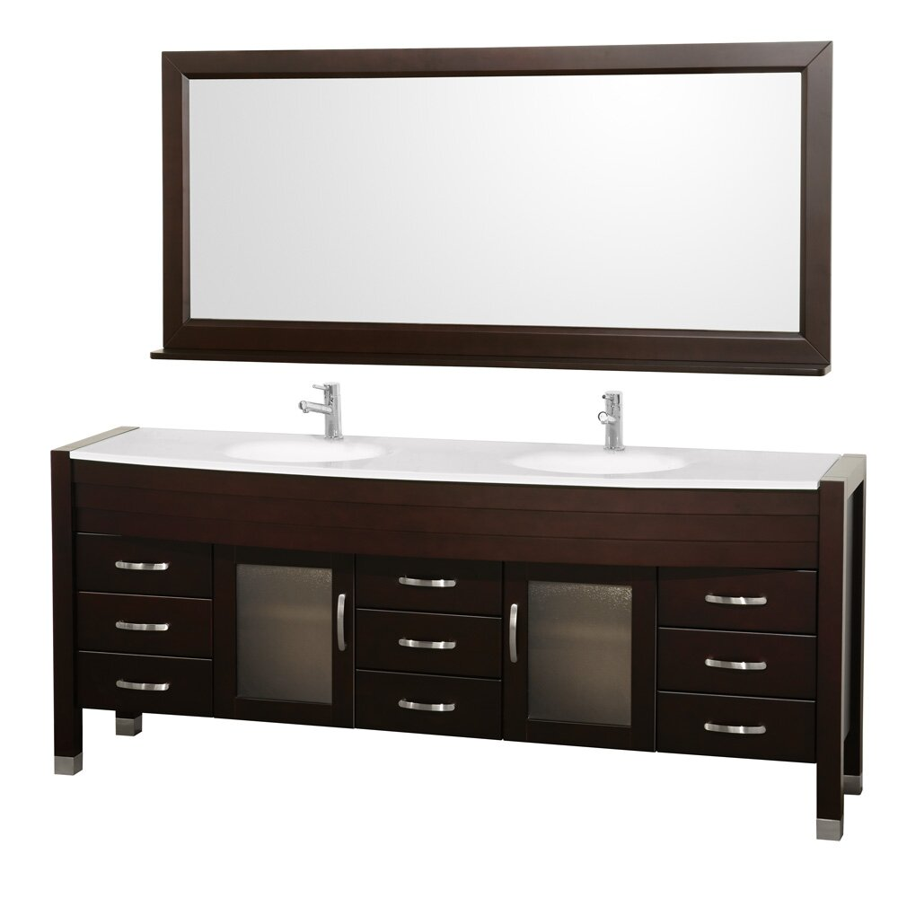 Saturn 88 Double Bathroom Vanity Set with Mirror