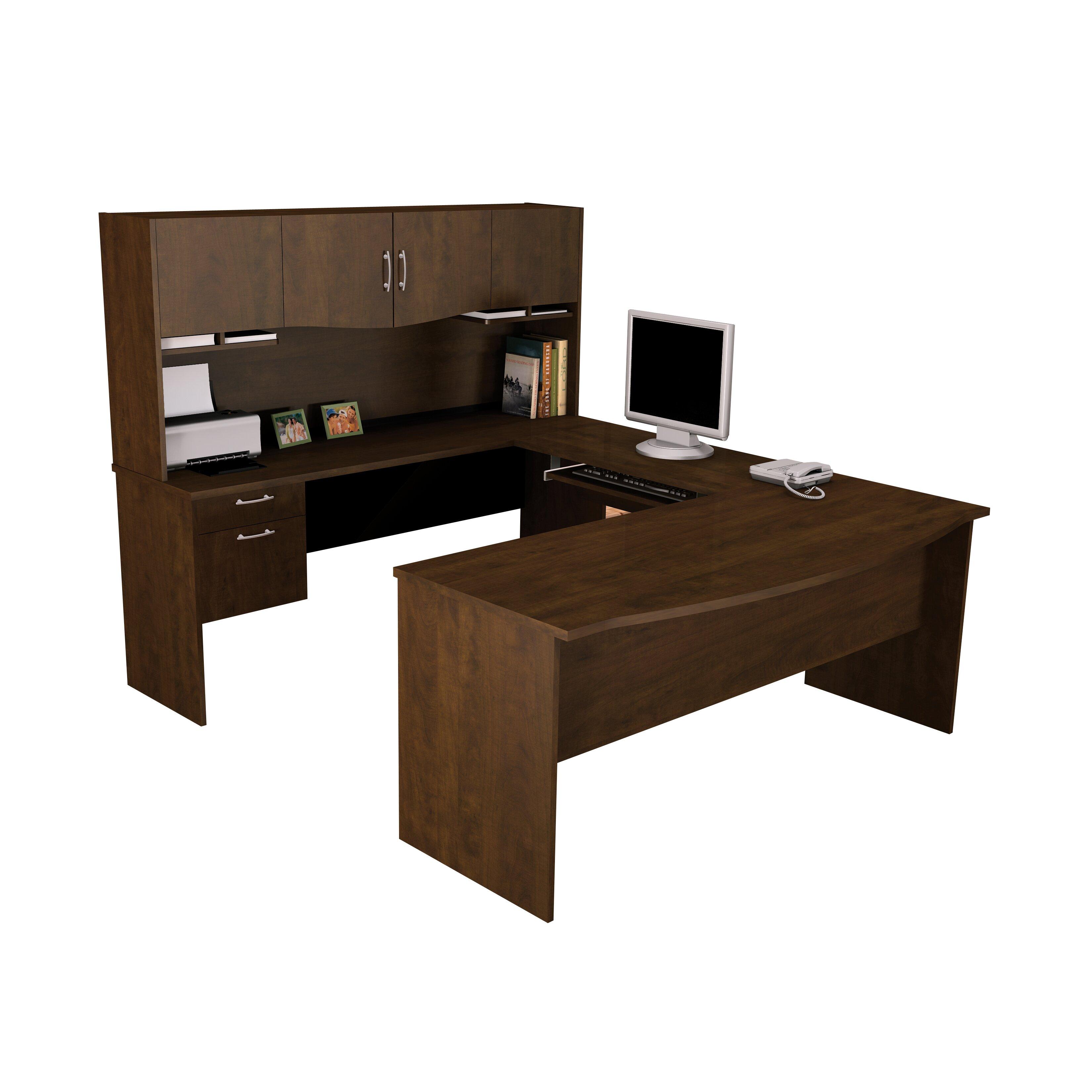 Harmony U Shape Computer Desk With Hutch Wayfair