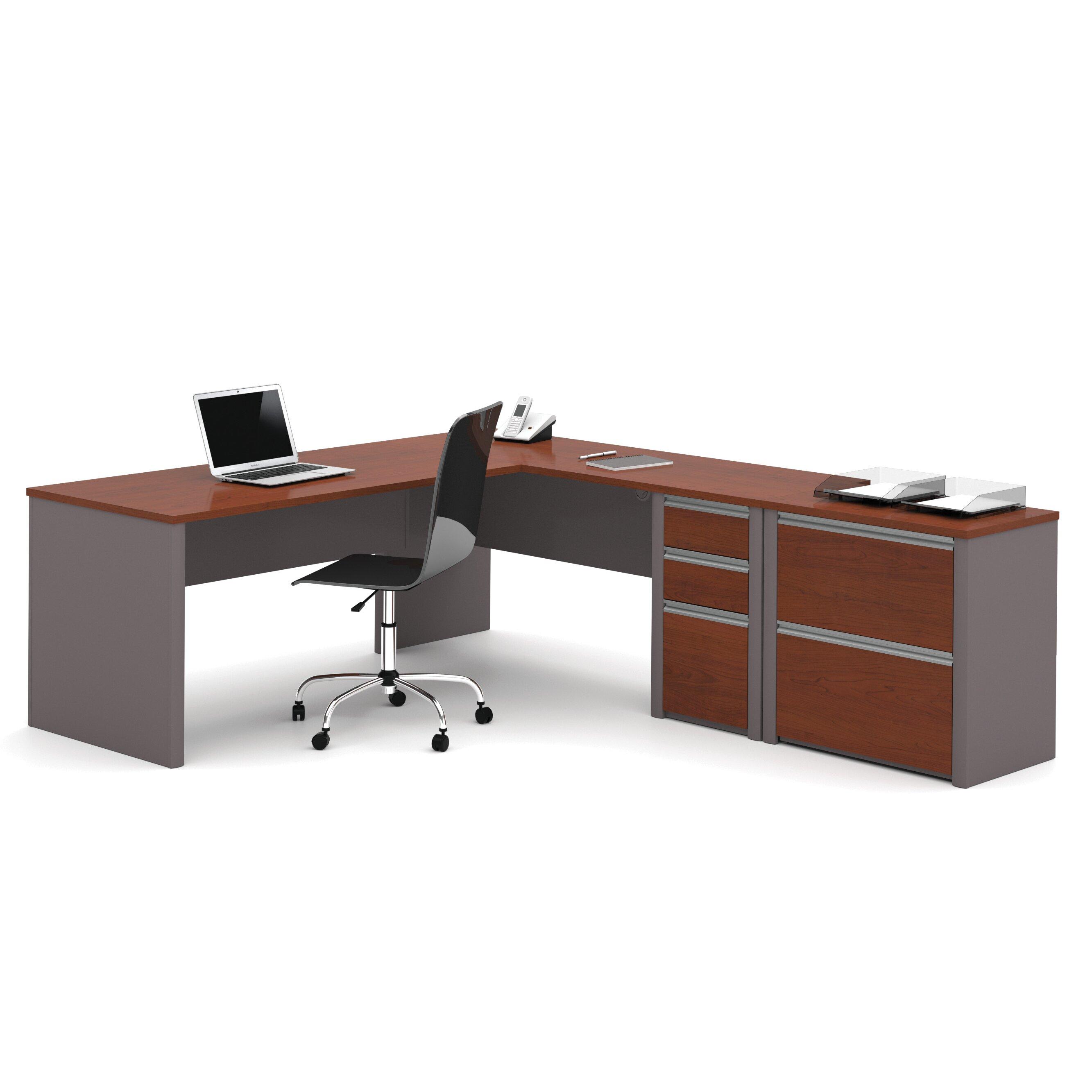 L Shaped Outdoor Kitchen: Bestar Connexion 2 Piece L-shaped Desk Office Suite