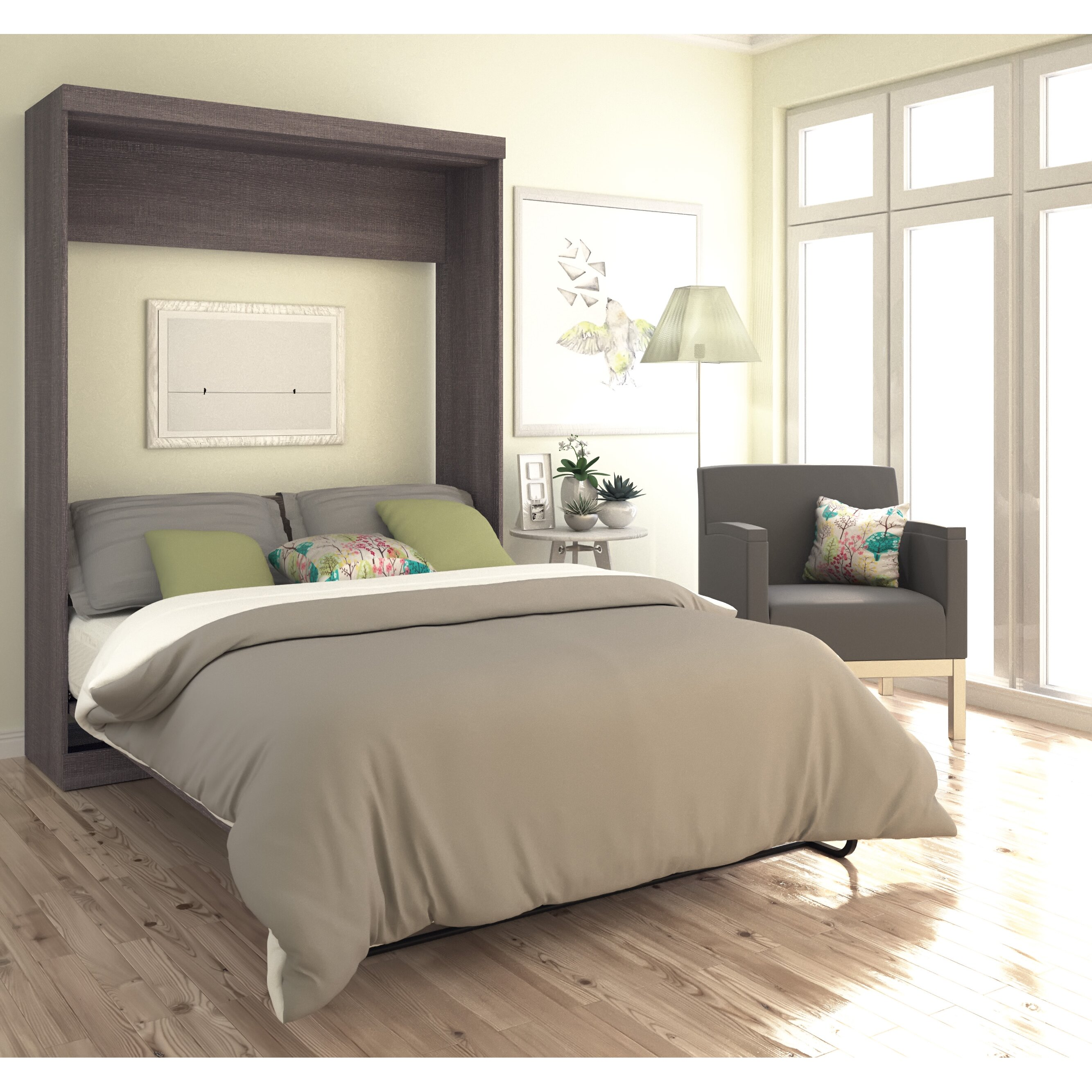 Bestar Queen Murphy Bed & Reviews