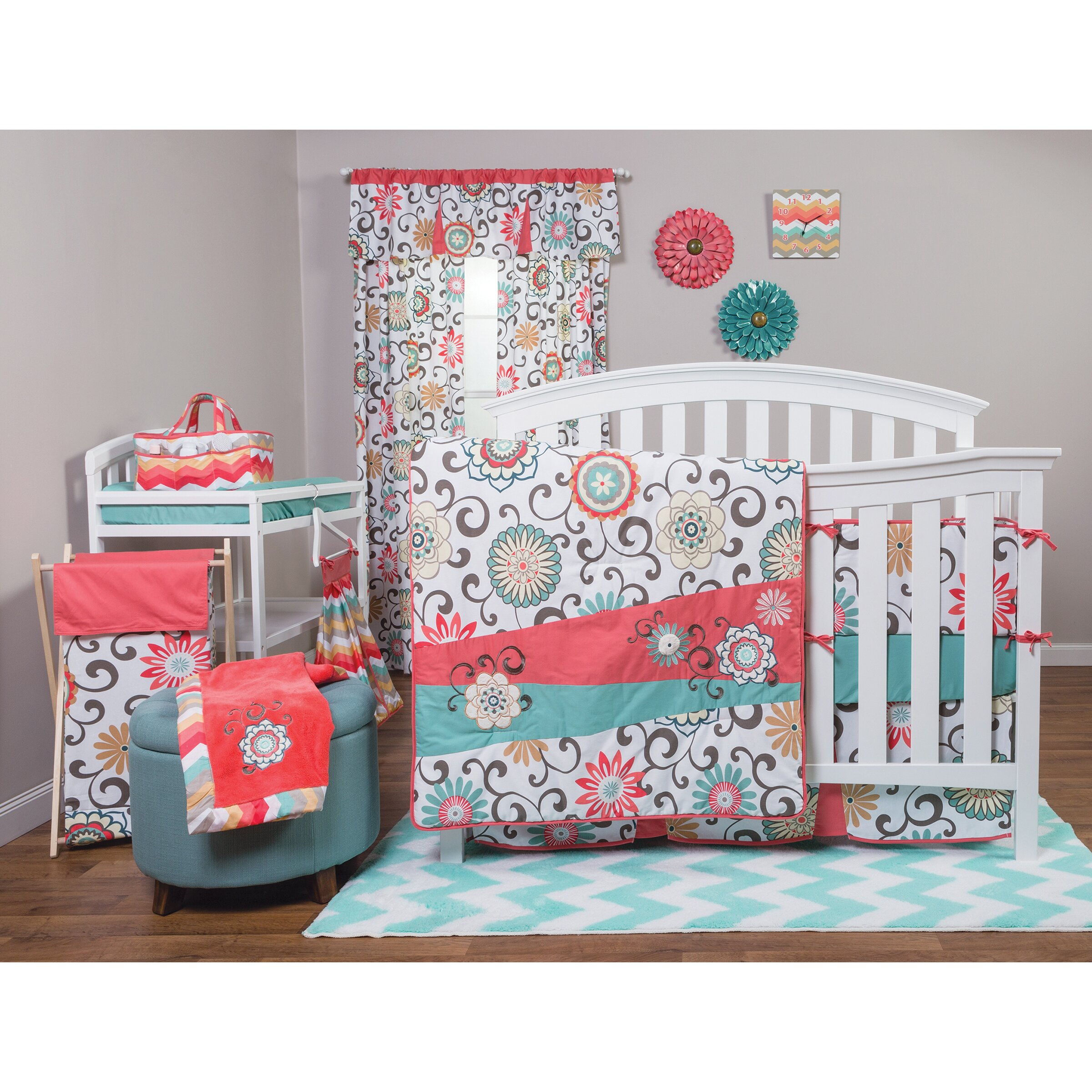Trend Lab Pom Pom Play 4 Piece Crib Bedding Set Amp Reviews