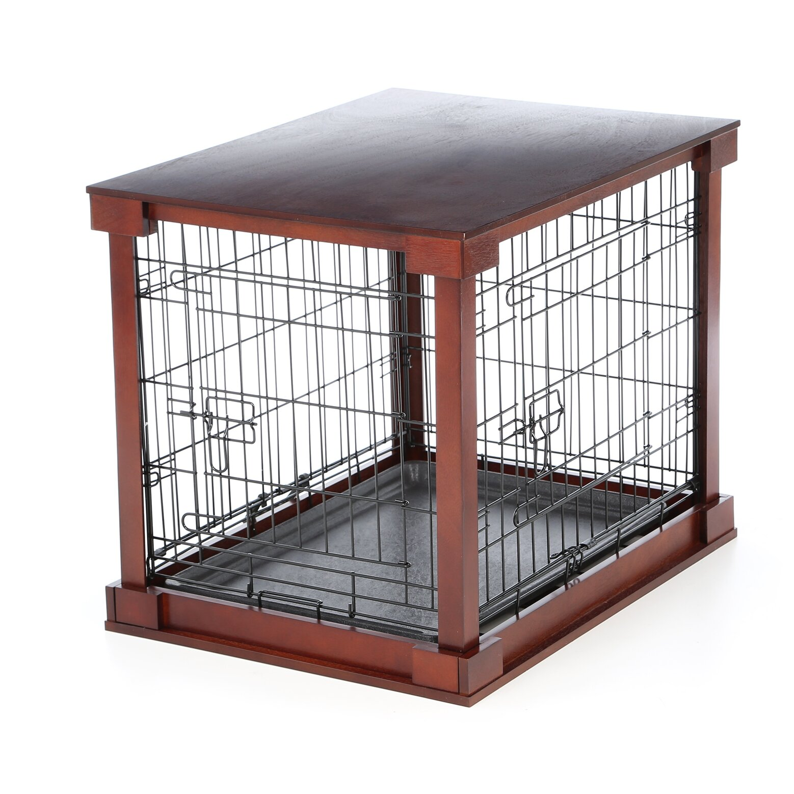 Merry Products Deluxe Pet Crate In Brown Amp Reviews Wayfair