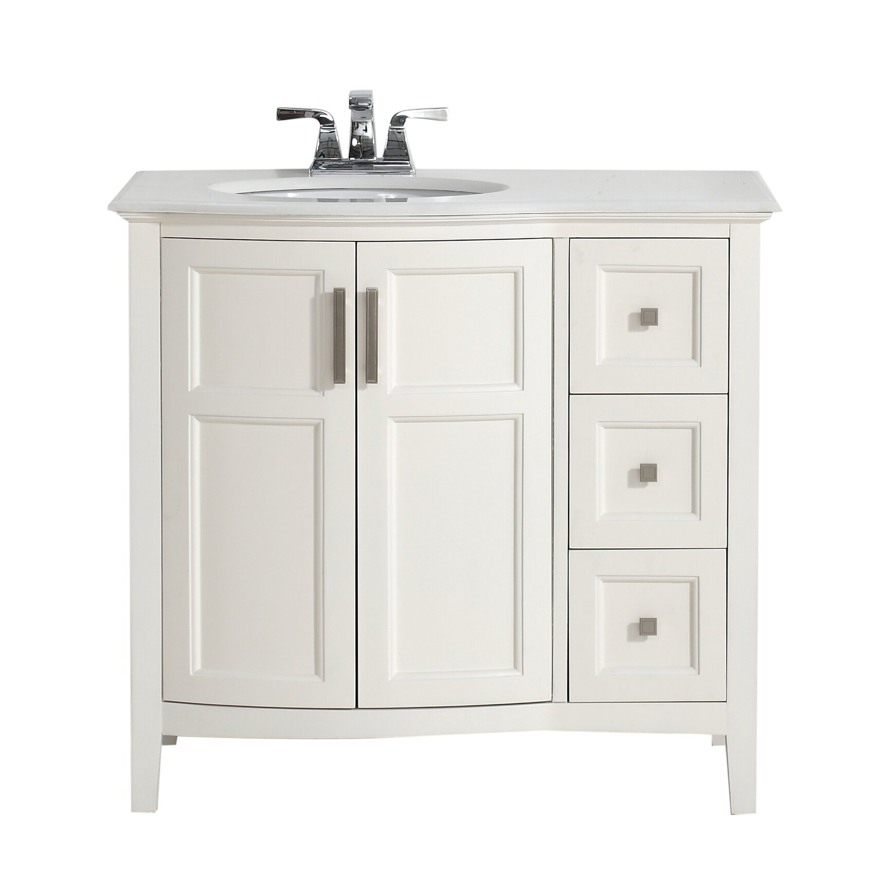 winston 37 single rounded front bath vanity set wayfair