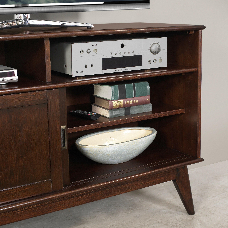 draper mid century tv stand wayfair. Black Bedroom Furniture Sets. Home Design Ideas