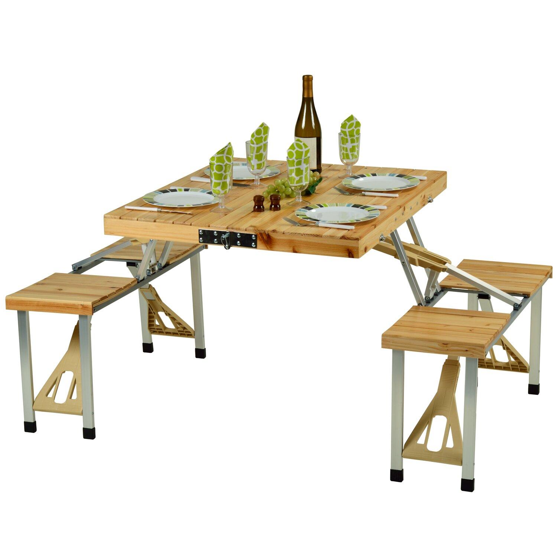 Portable picnic table wayfair for 10 person picnic table