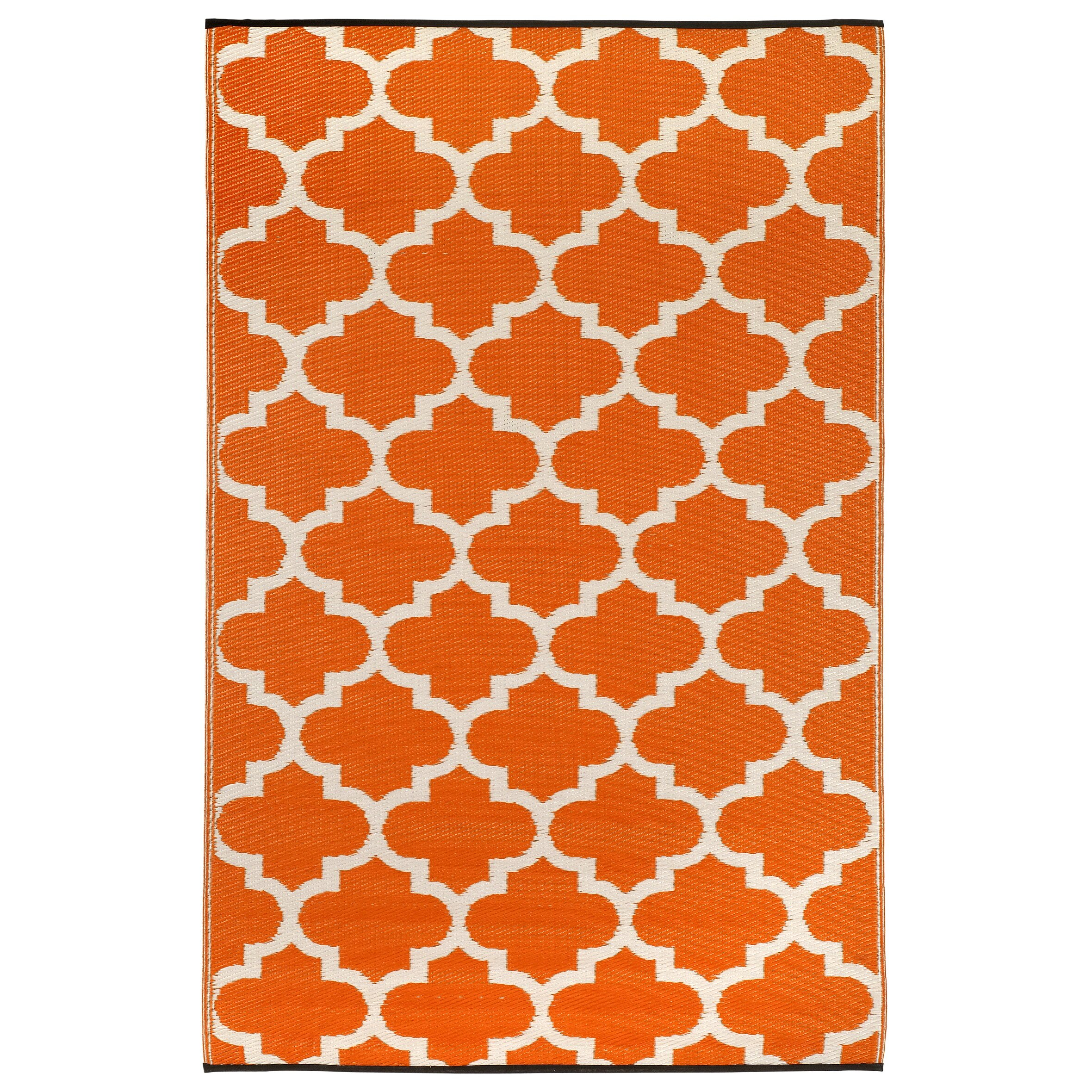 Fab Rugs Tangier Carrot World Outdoor Plastic Area Rug